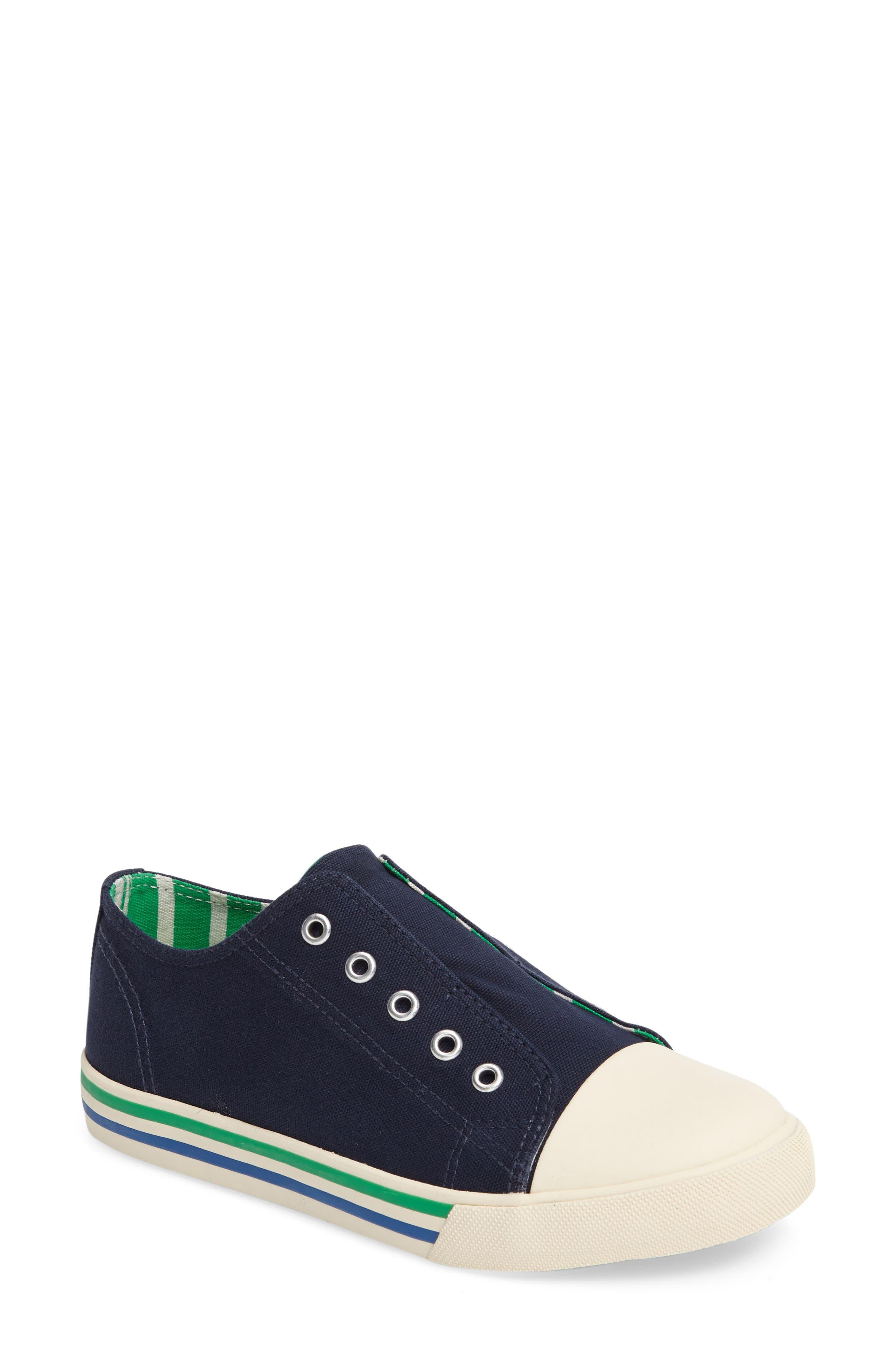 Alternate Image 1 Selected - Mini Boden Laceless Sneaker (Toddler, Little Kid & Big Kid)
