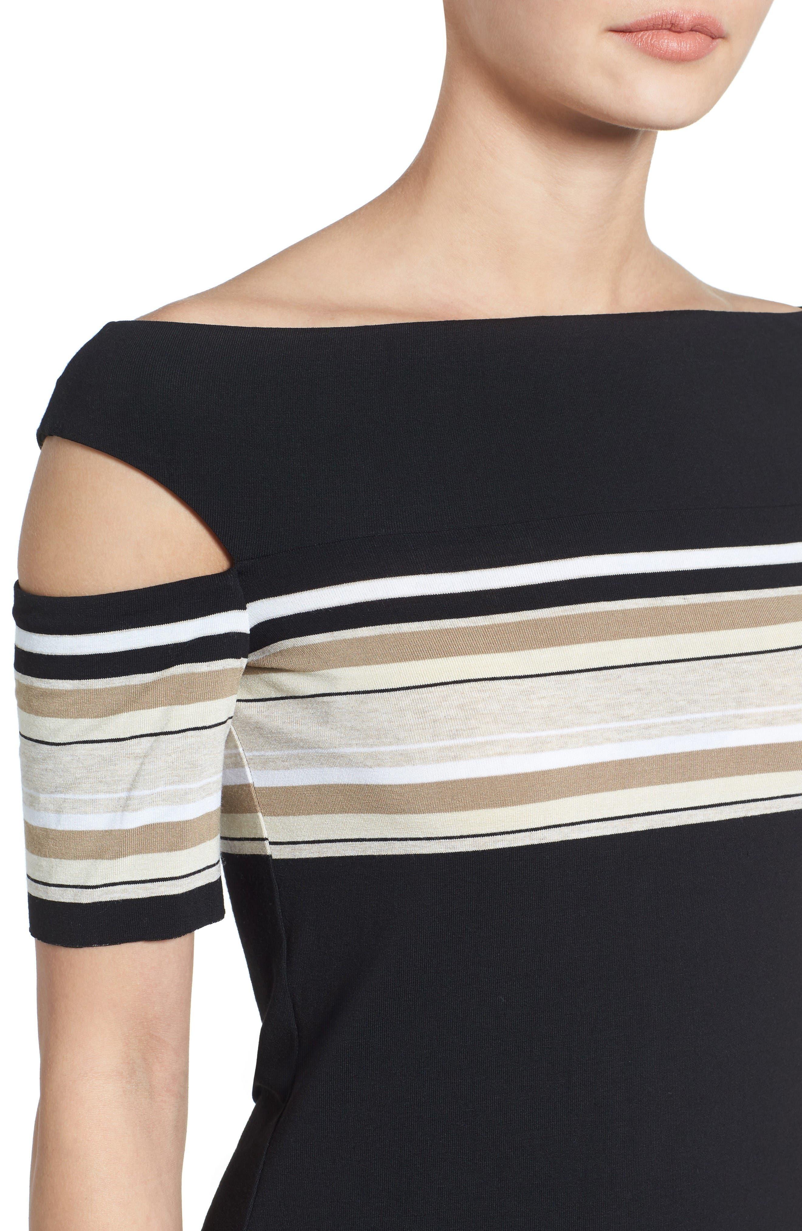 Alternate Image 4  - Bailey 44 Stripe Off the Shoulder Top