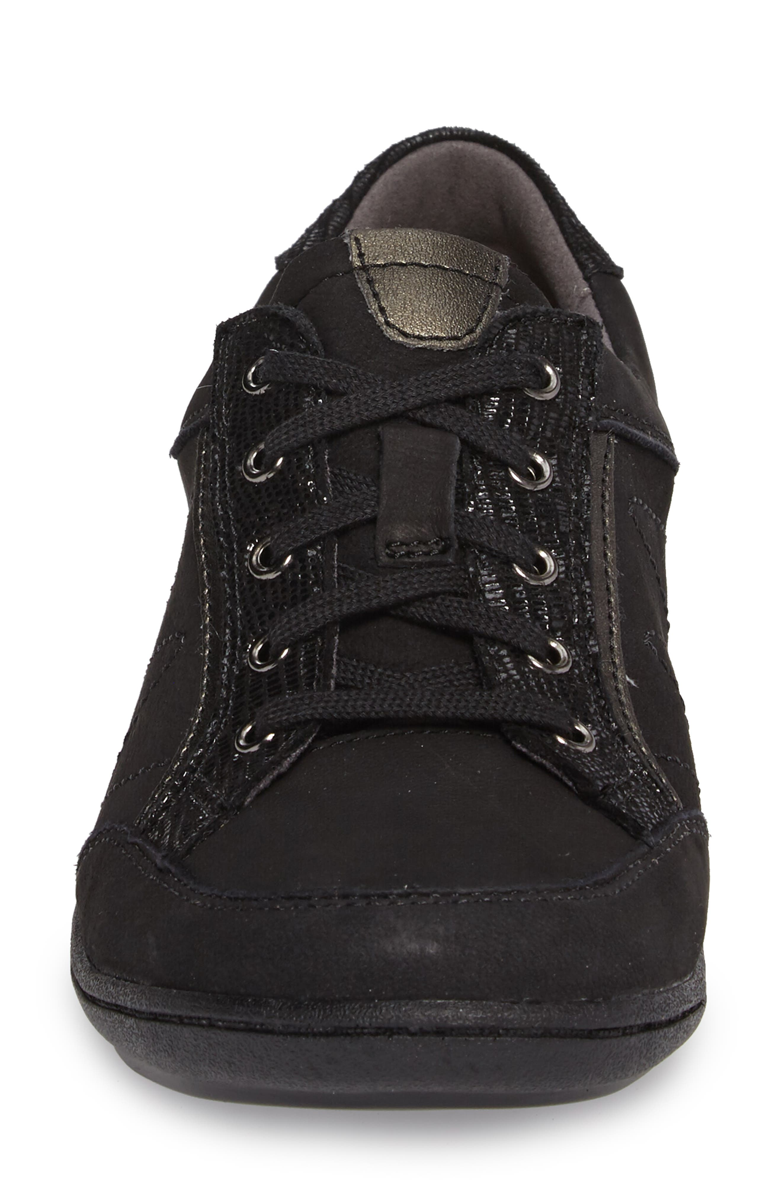 Bromly Sneaker,                             Alternate thumbnail 4, color,                             Black Fabric