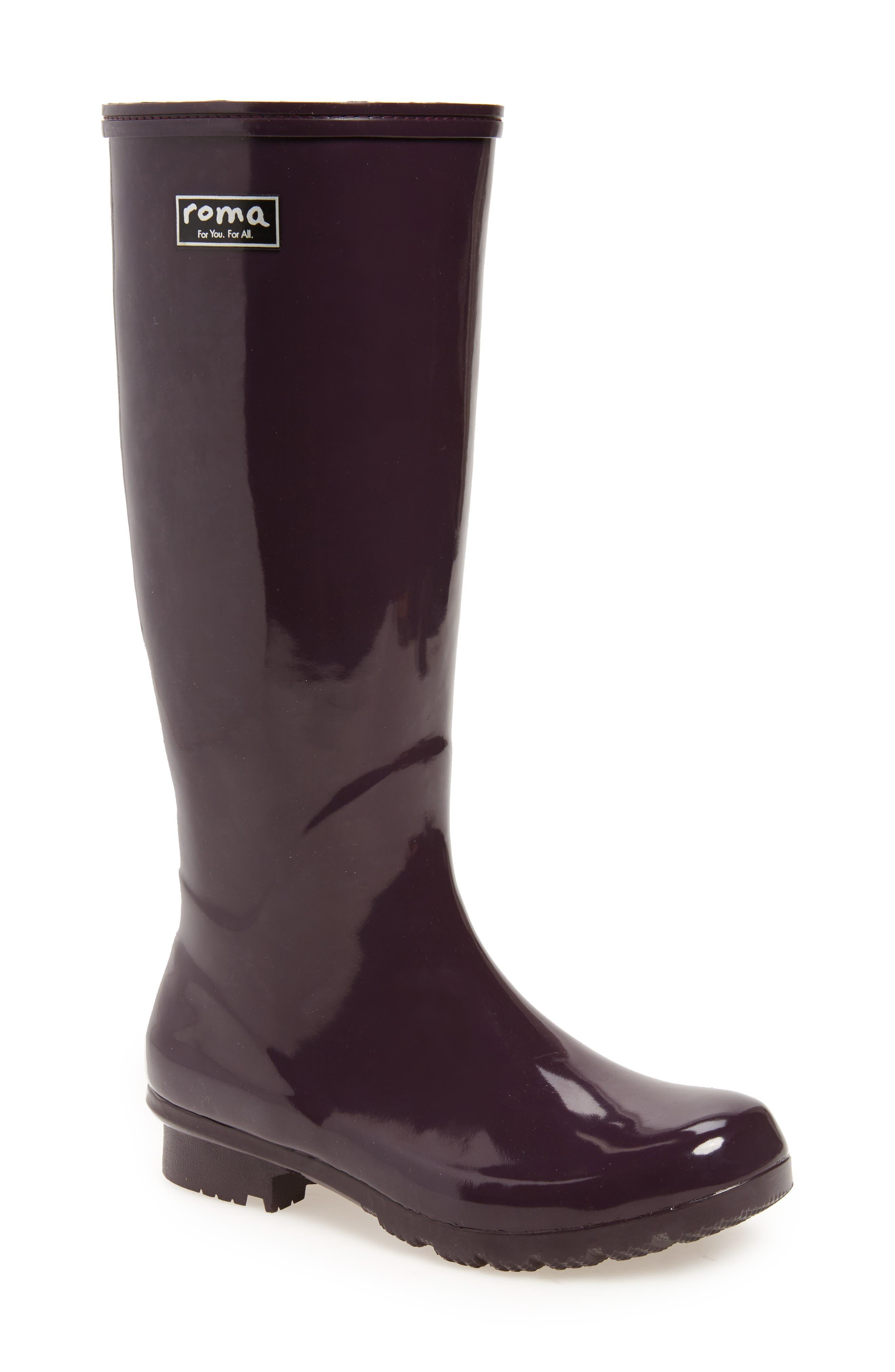 Main Image - roma Classic Glossy Rain Boot (Women)
