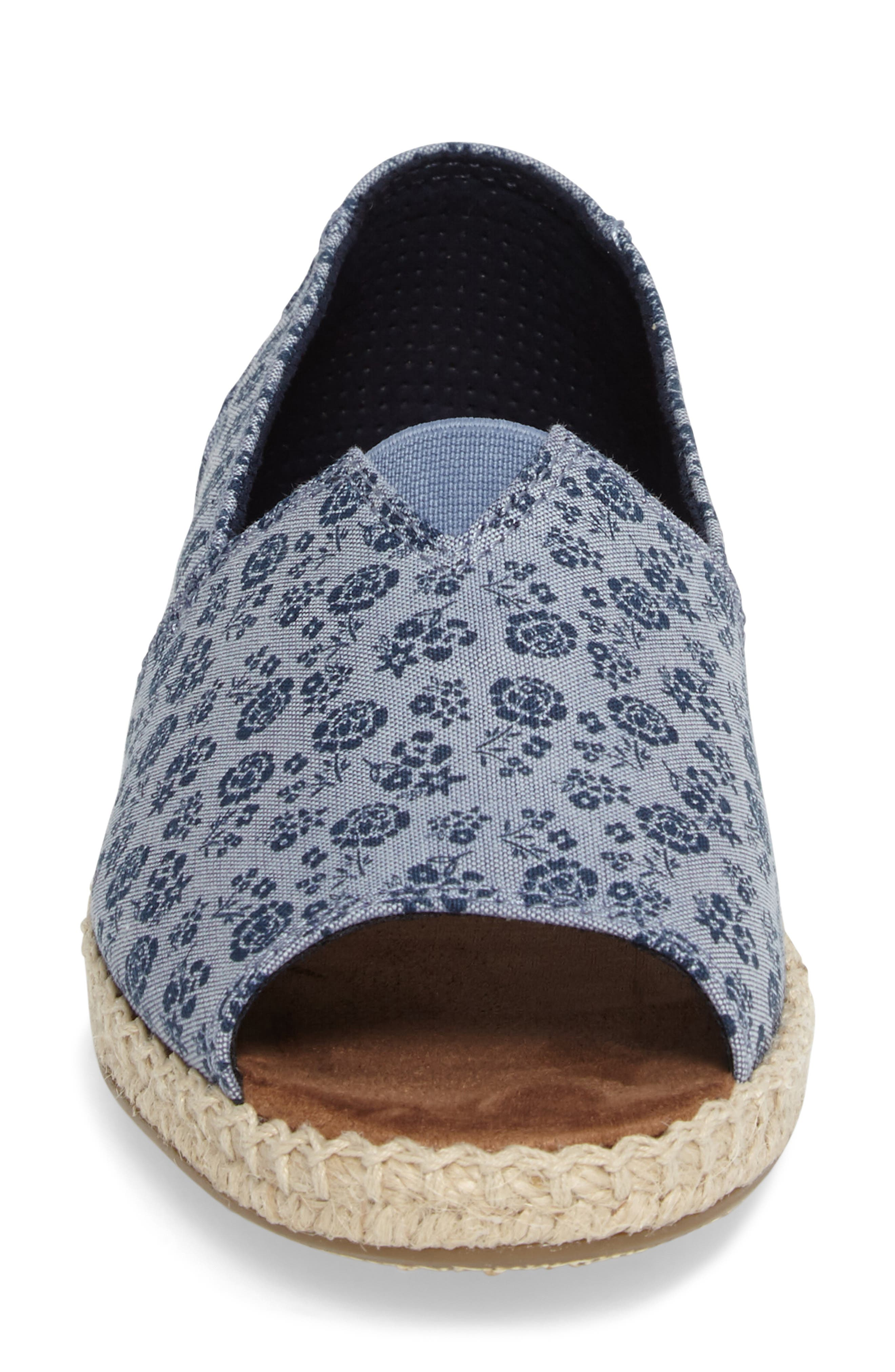 Alternate Image 4  - TOMS Open Toe Espadrille Slip-On (Women)