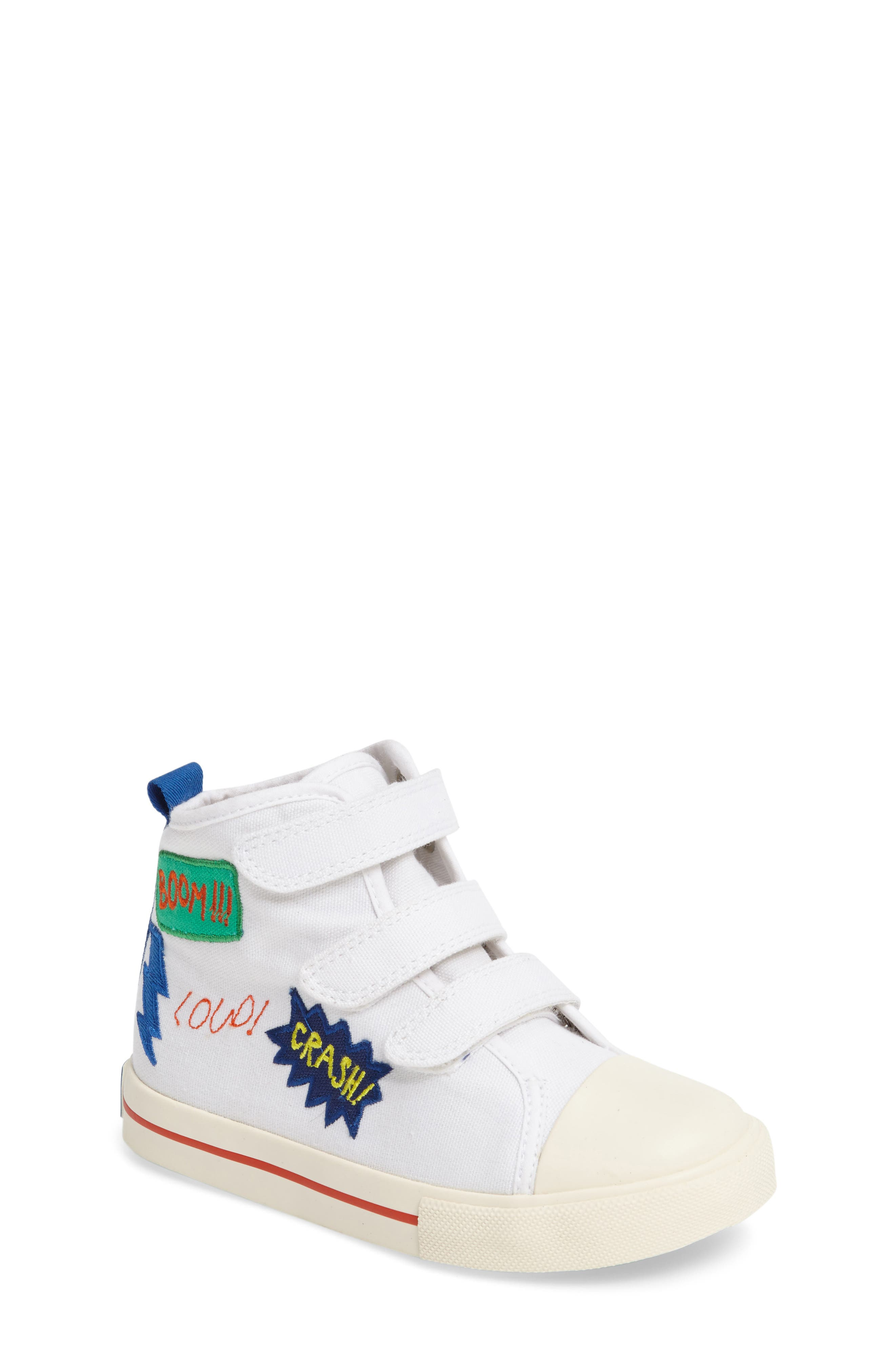 High Top Sneaker,                             Main thumbnail 1, color,                             White