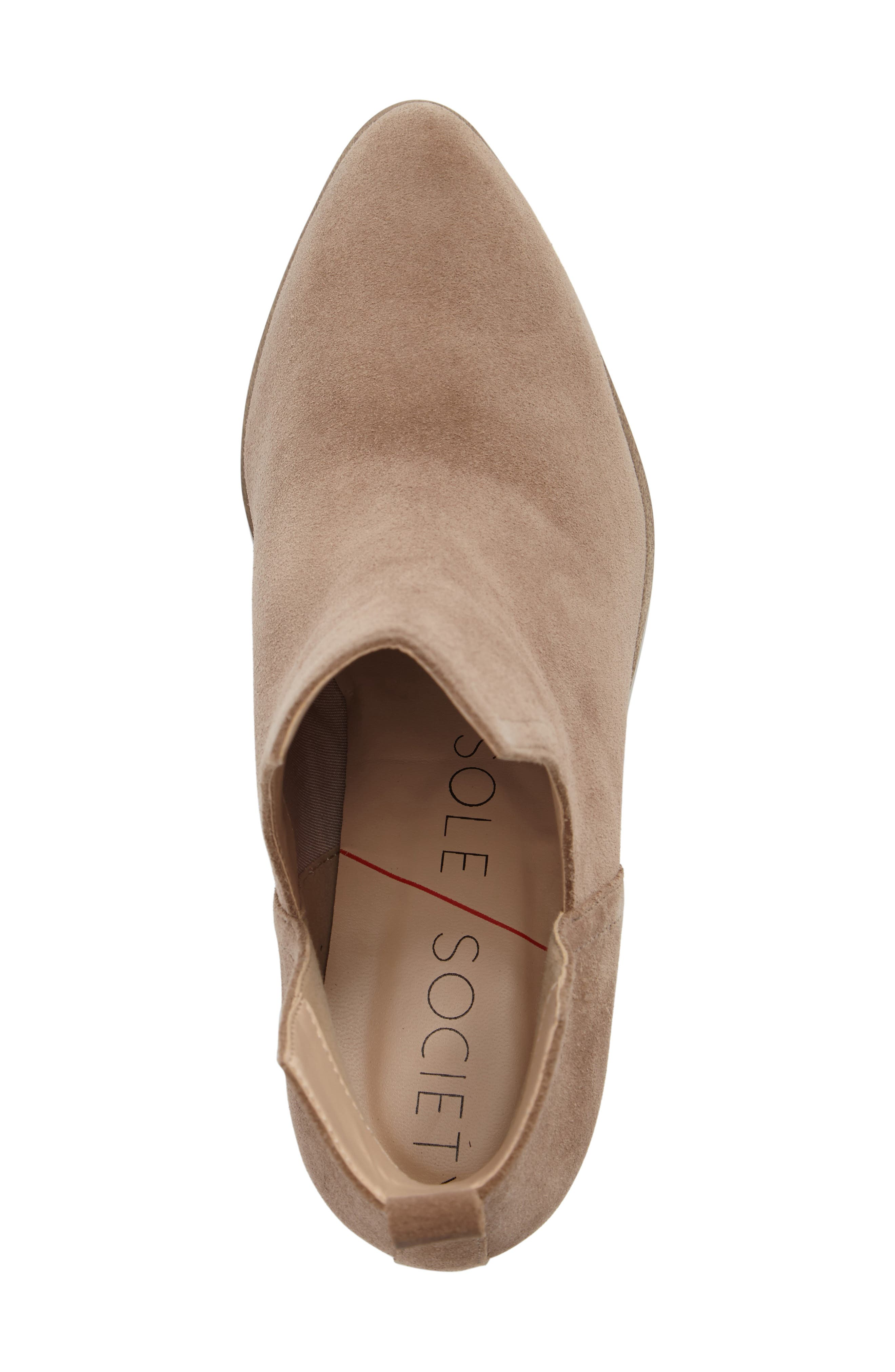 Madrid Bootie,                             Alternate thumbnail 5, color,                             Sand Suede