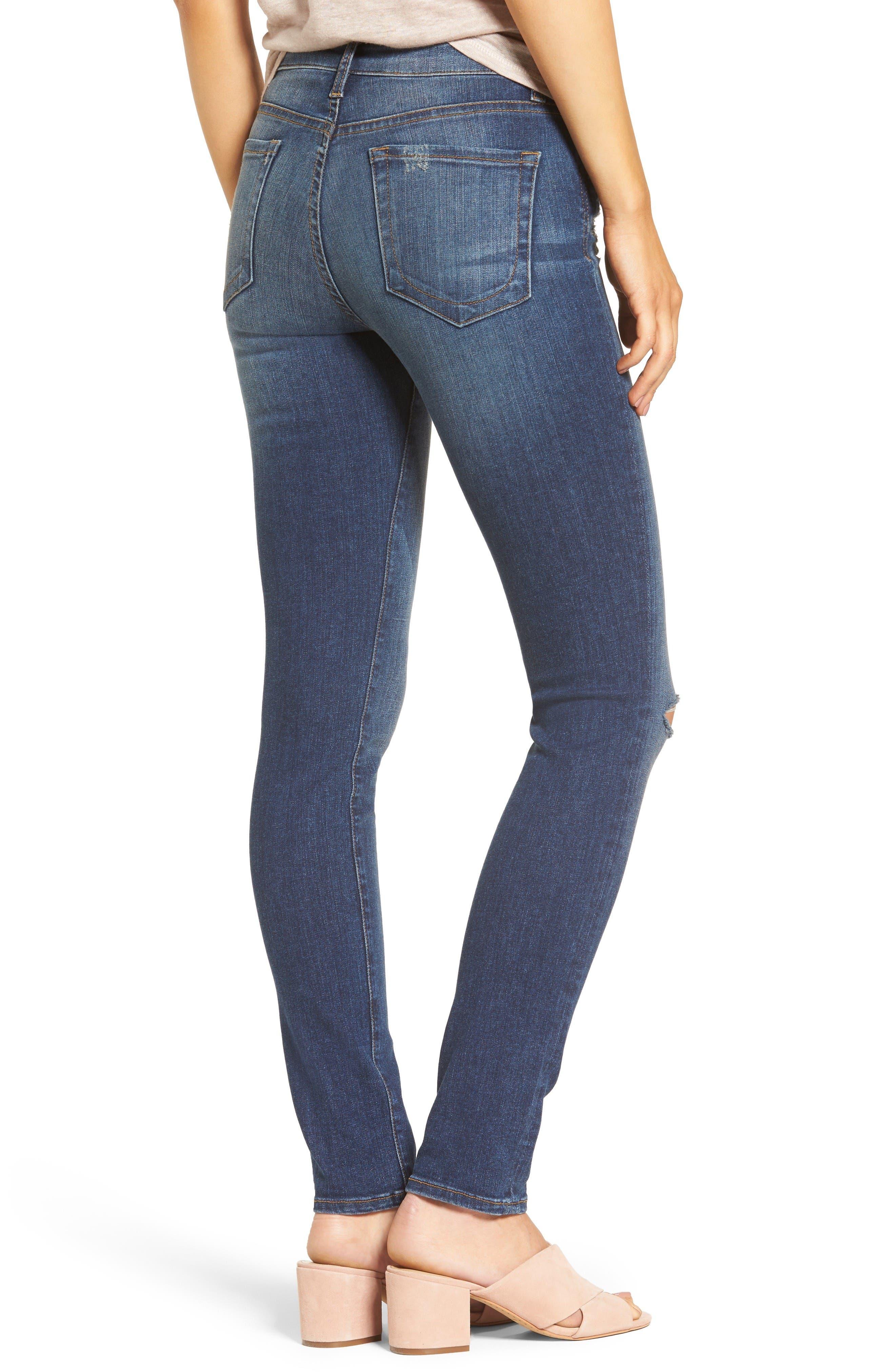 Alternate Image 3  - KUT from the Kloth Diana Ripped Stretch Skinny Jeans (Valorous) (Regular & Petite)