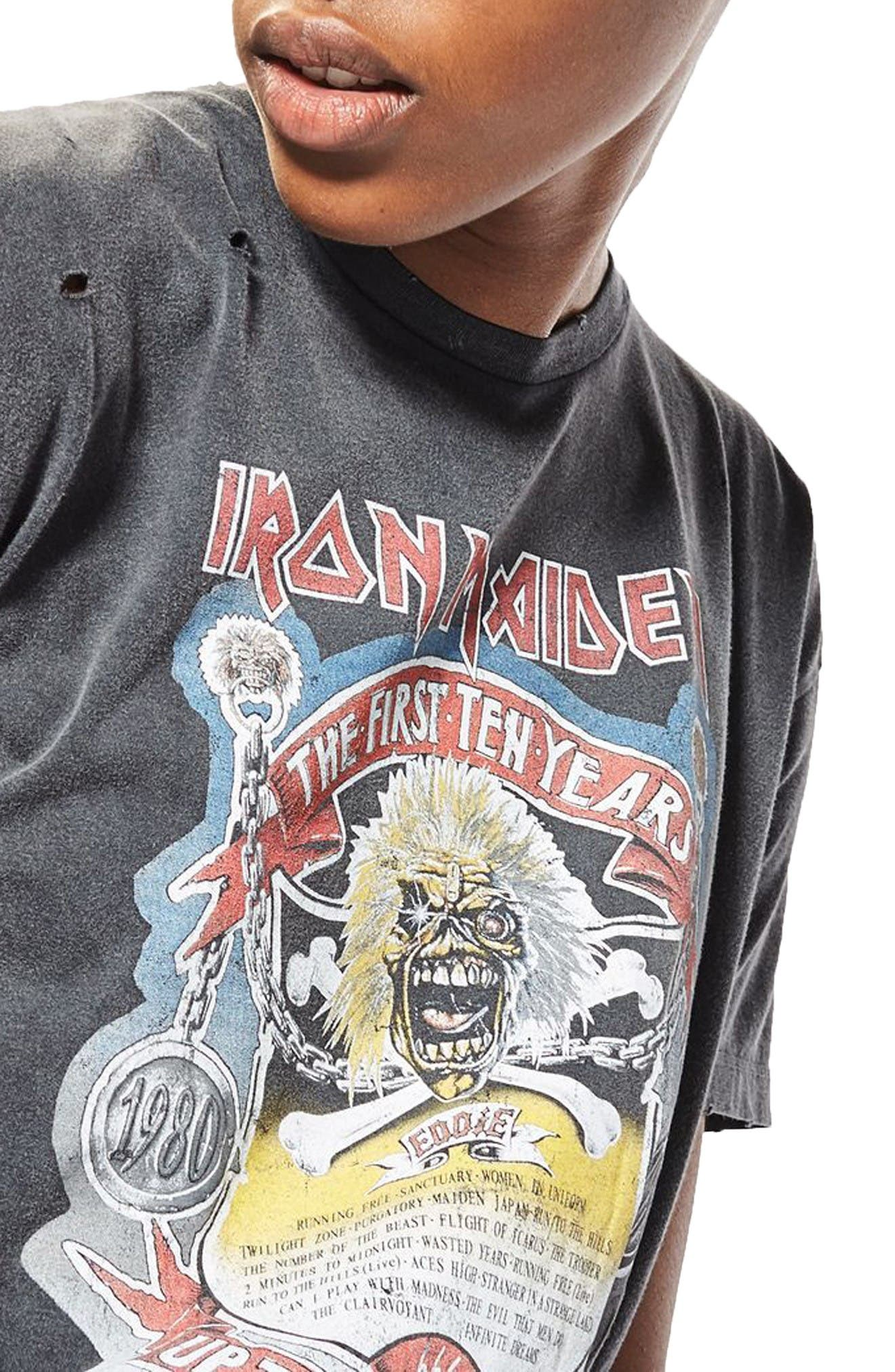 Alternate Image 5  - Topshop by And Finally Iron Maiden T-Shirt Dress