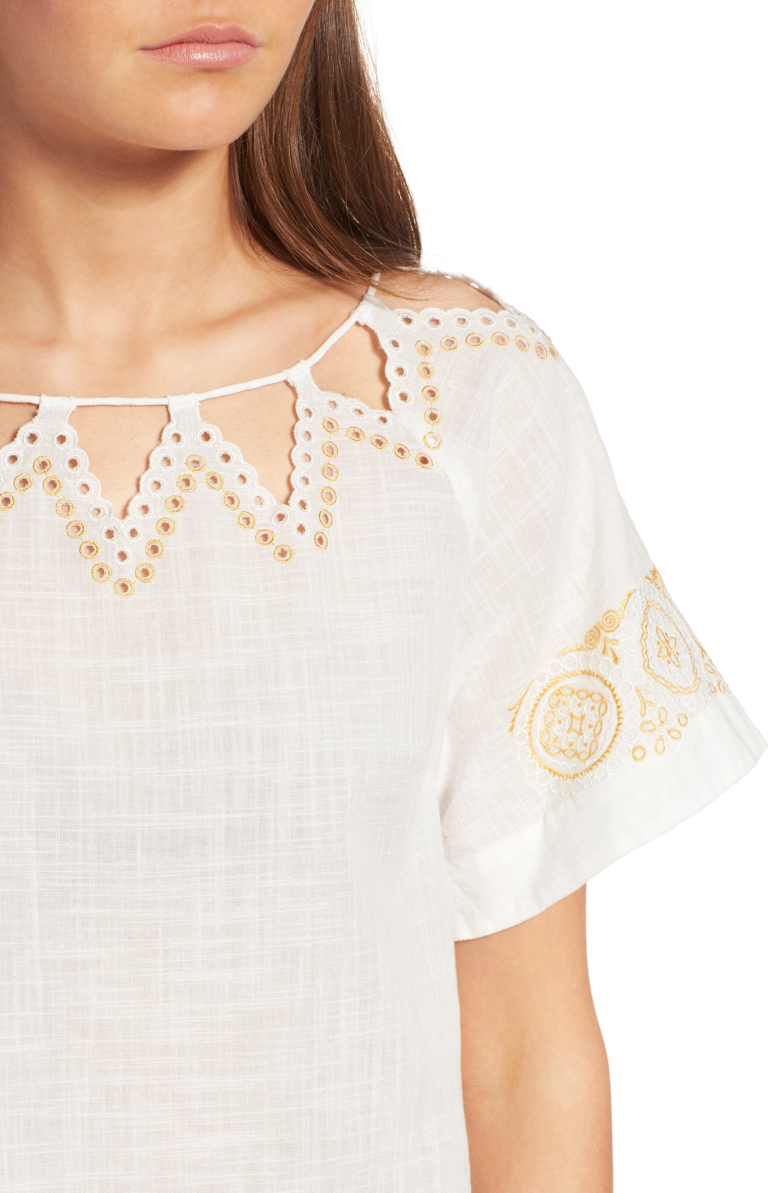 Alternate Image 5  - Madewell Eyelet Peekaboo Top