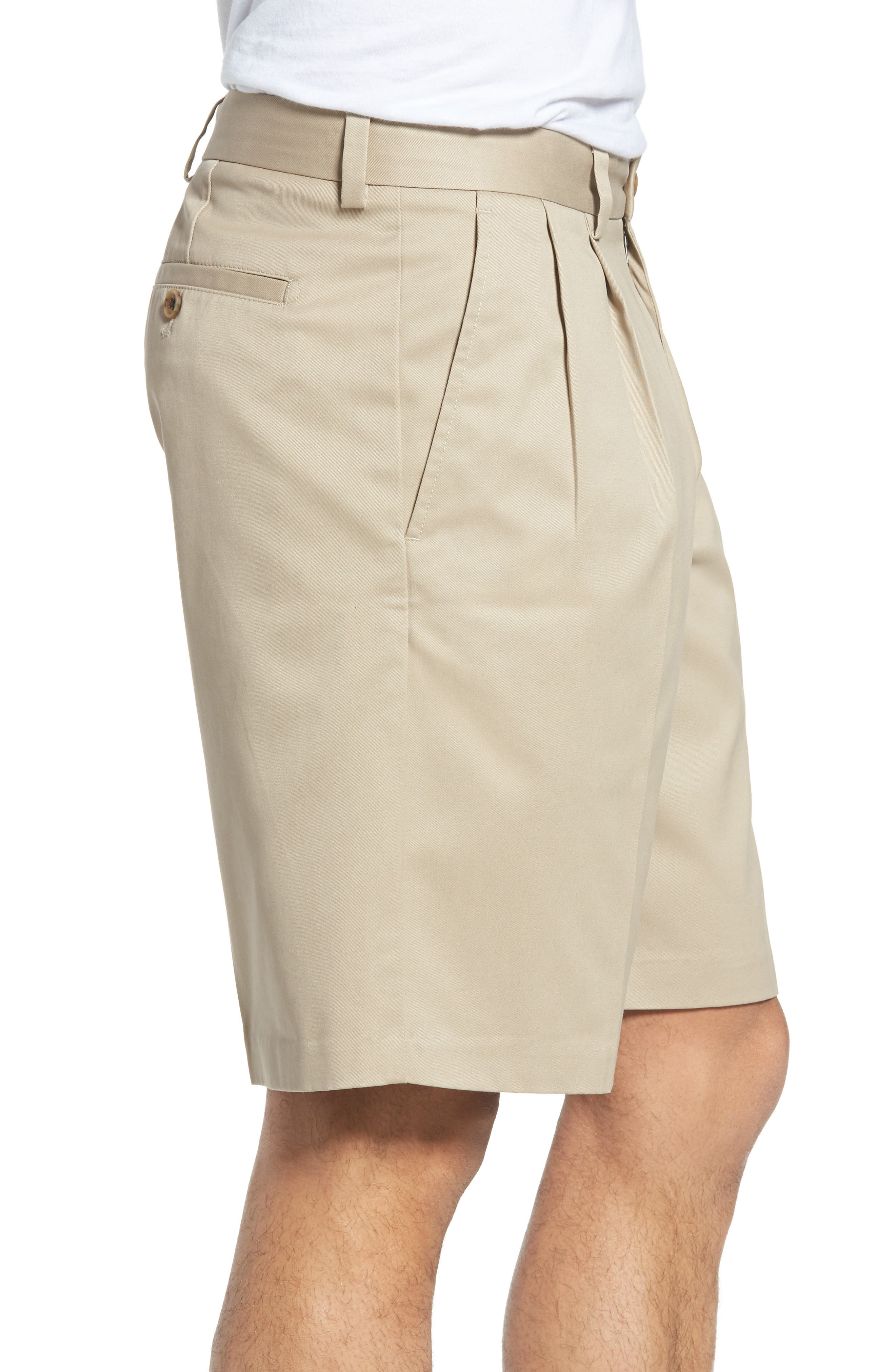 Smartcare<sup>™</sup> Pleated Shorts,                             Alternate thumbnail 3, color,                             Tan