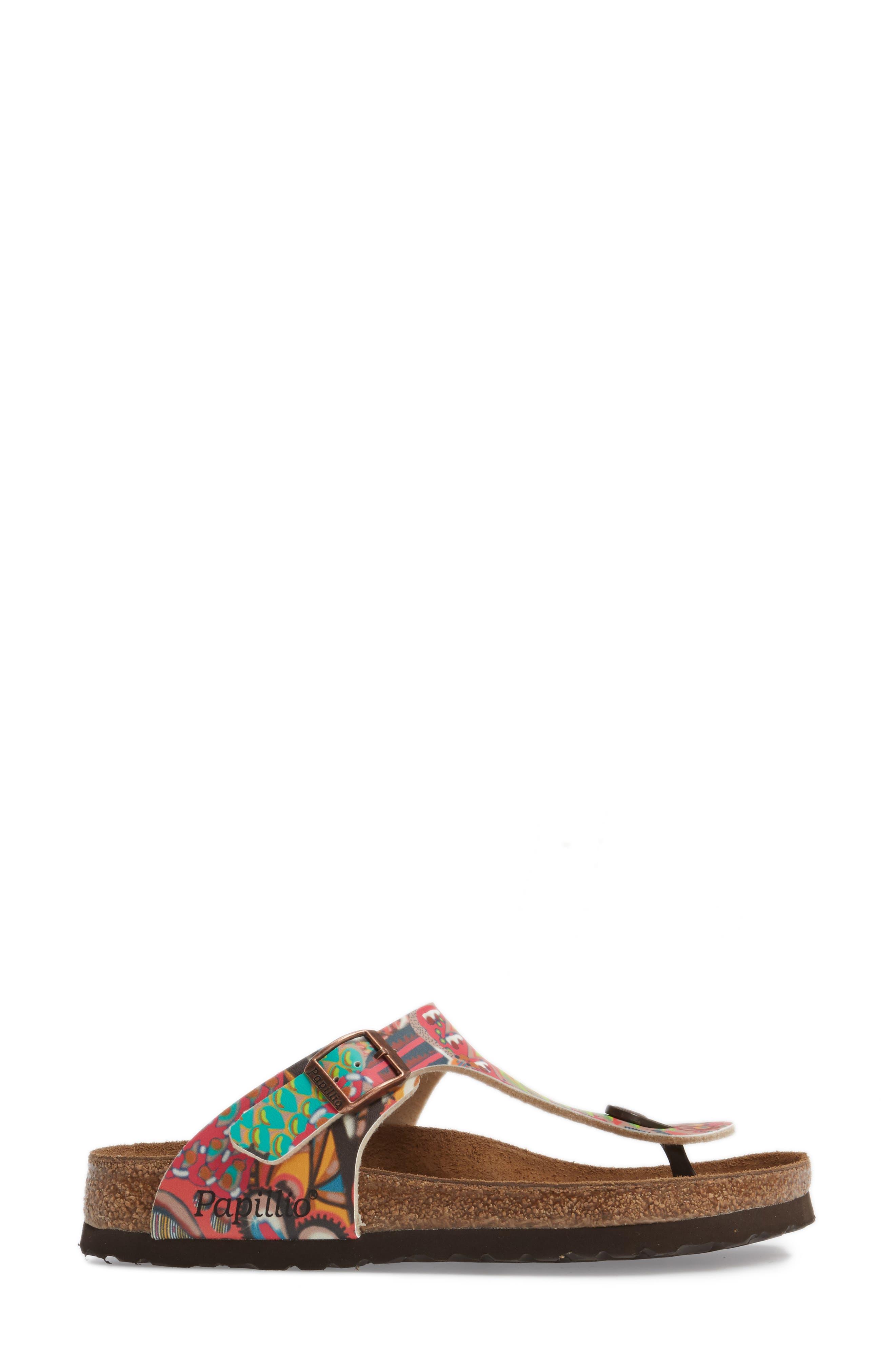 'Gizeh' Sandal,                             Alternate thumbnail 3, color,                             Raspberry Multi