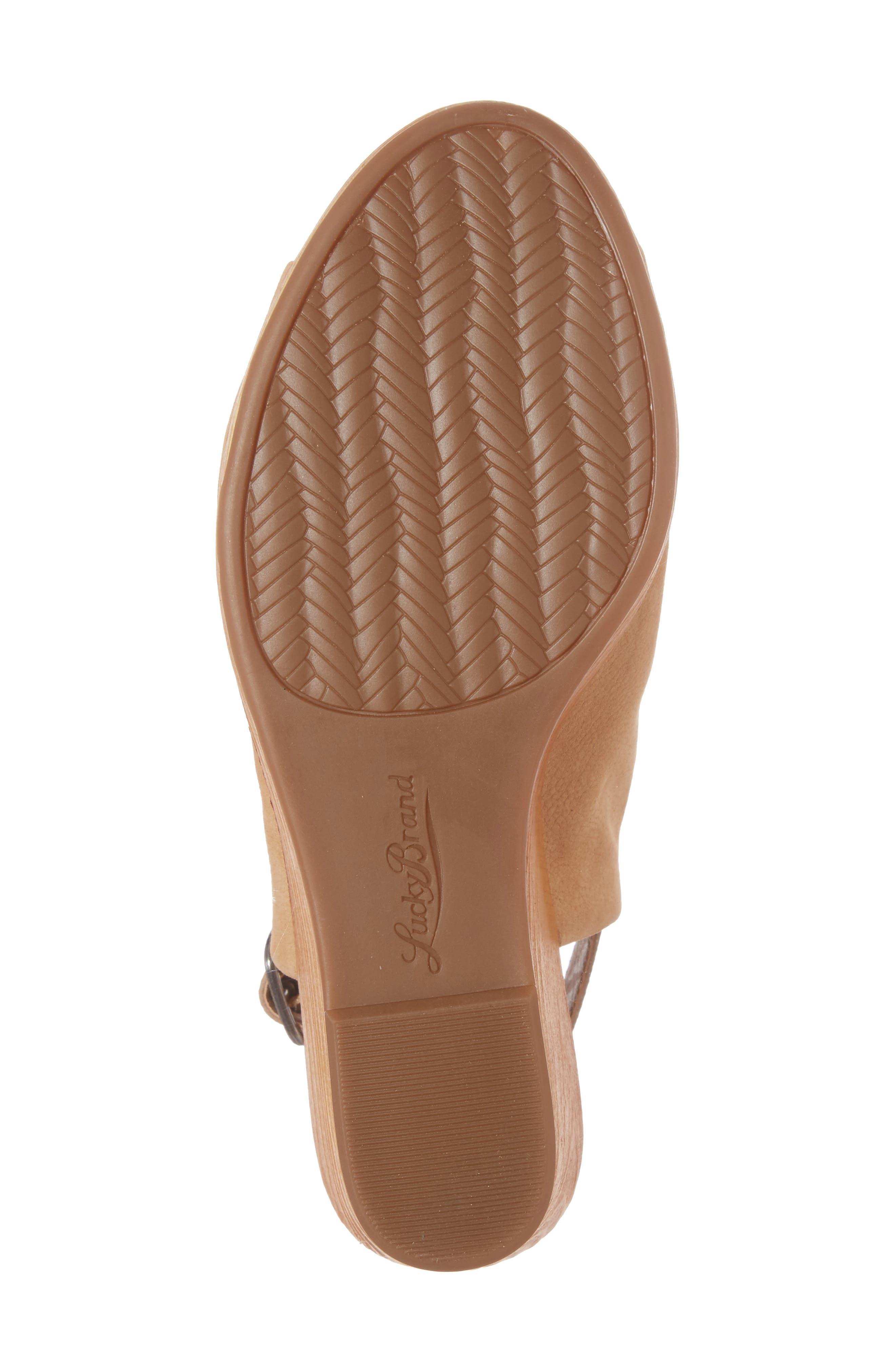 Keralin Wedge Sandal,                             Alternate thumbnail 6, color,                             Glazed Leather