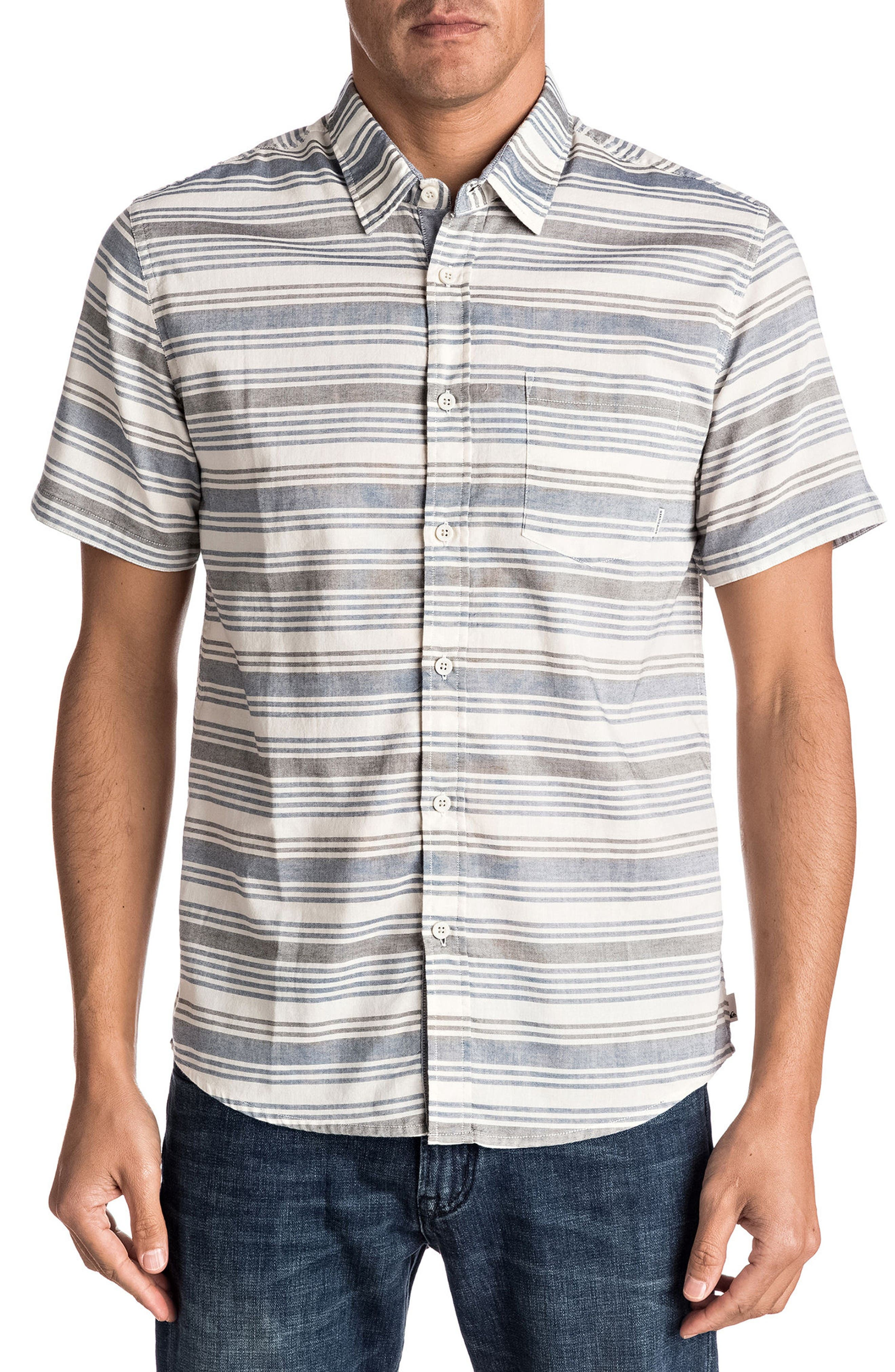 Main Image - Quiksilver Aventail Stripe Woven Shirt