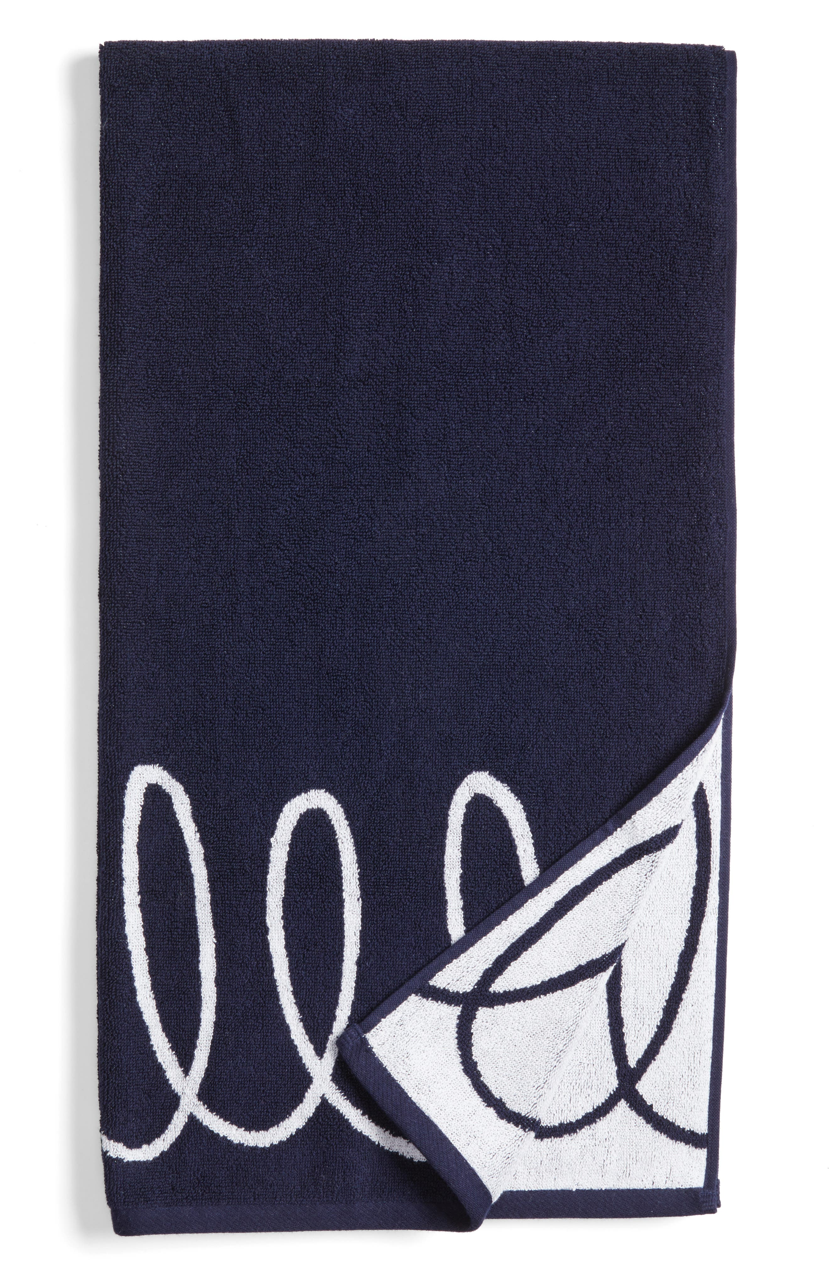 kate spade new york curlicue bath towel