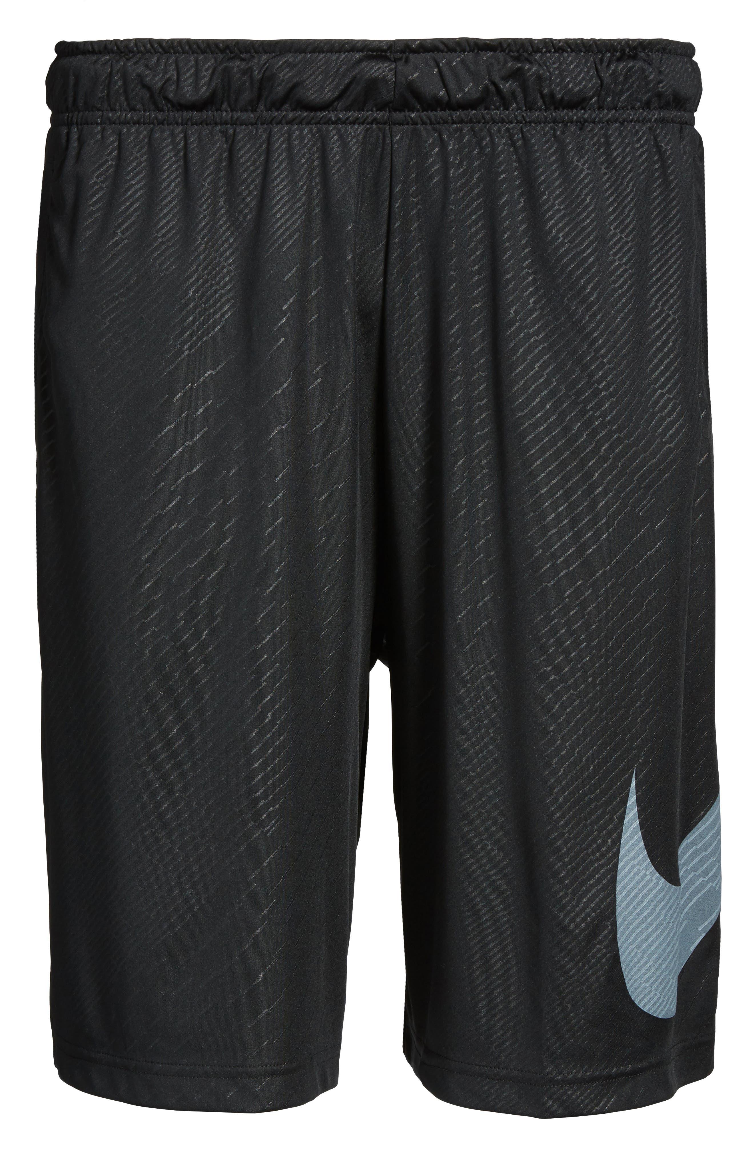 Dry Training Shorts,                             Alternate thumbnail 5, color,                             Black/ White