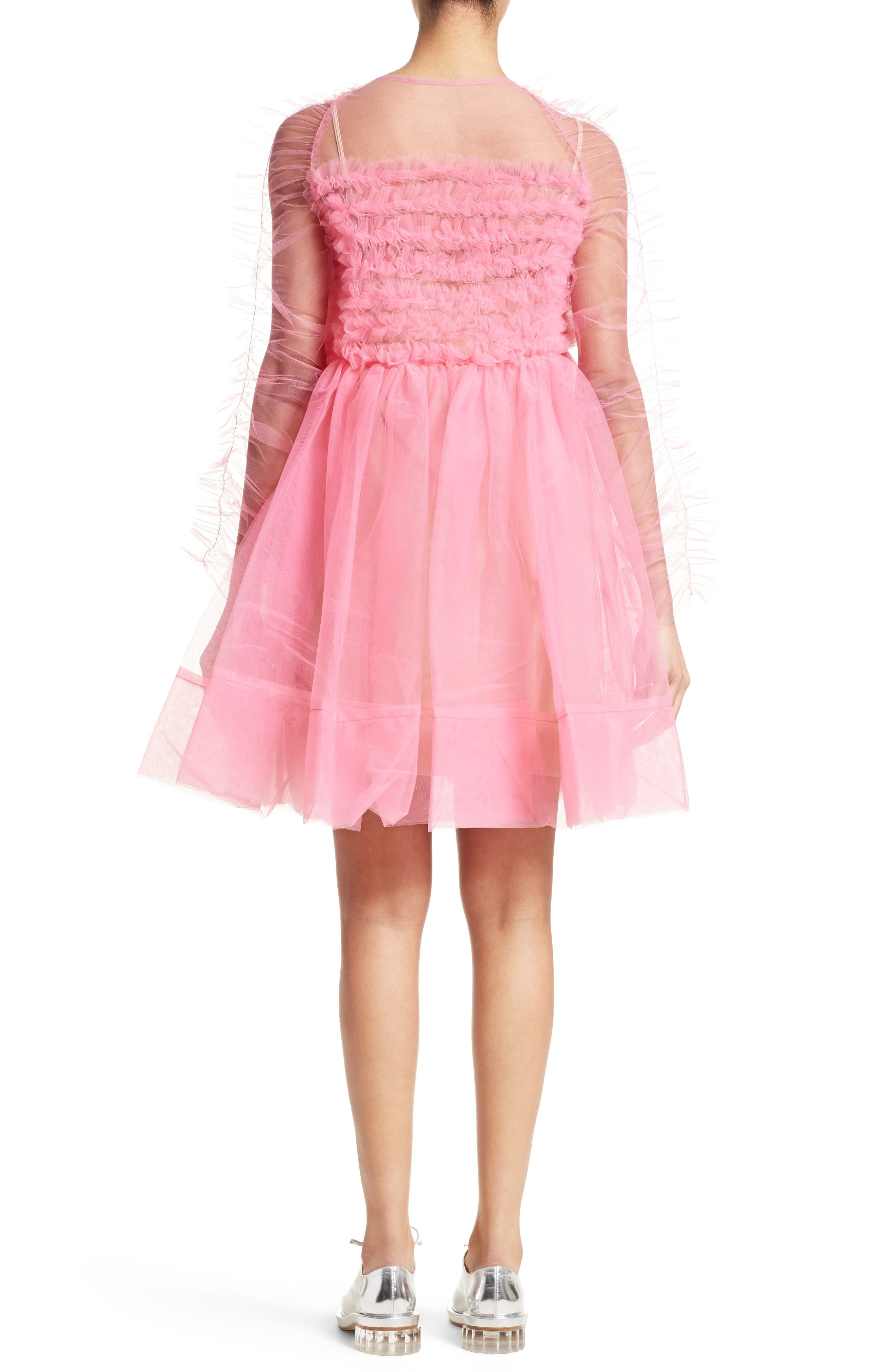 Funky Tulle Dress,                             Alternate thumbnail 2, color,                             Pink