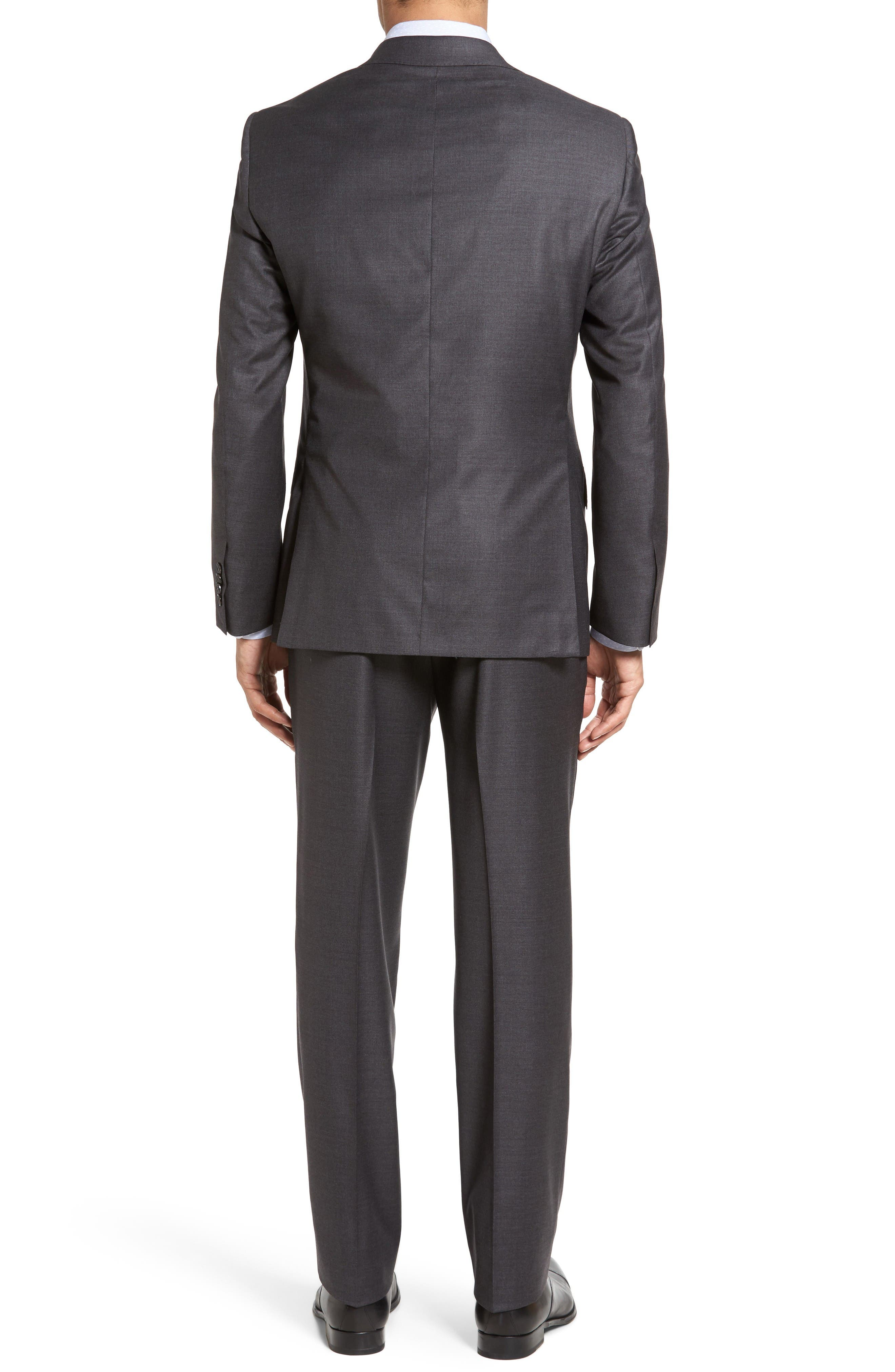 Beckett Classic Fit Solid Wool Suit,                             Alternate thumbnail 2, color,                             Mid Grey
