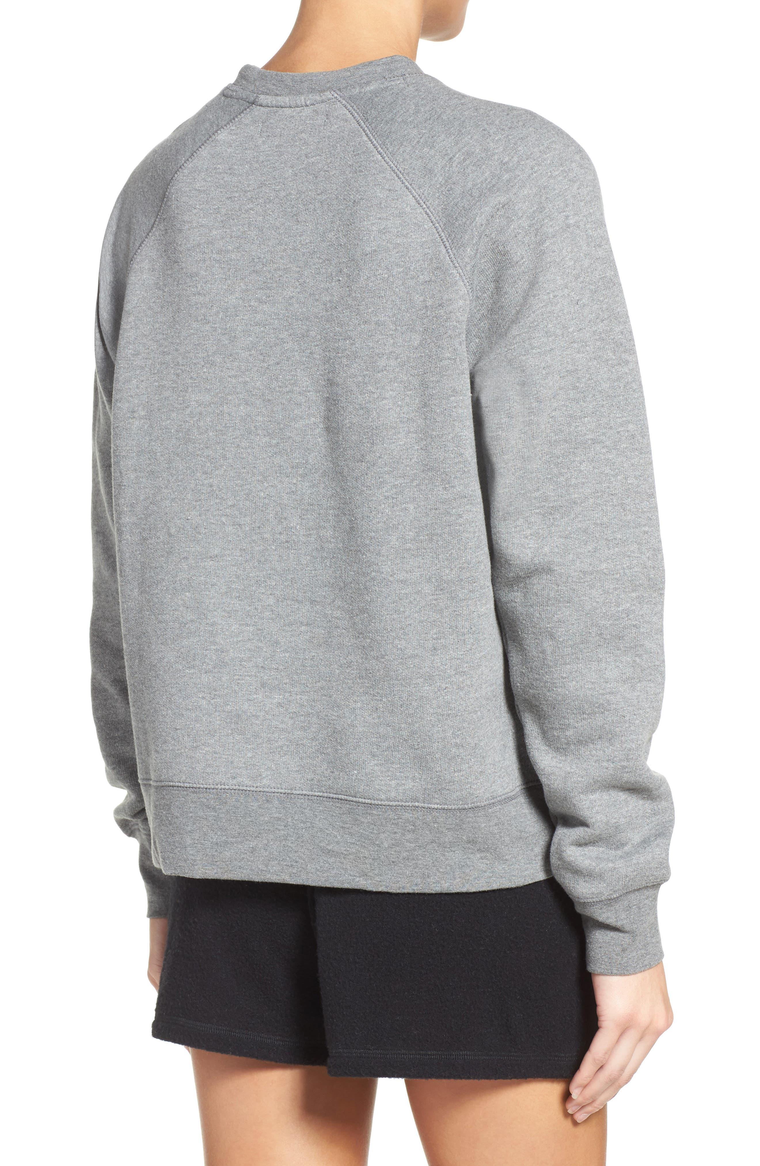 Crewneck Sweatshirt,                             Alternate thumbnail 2, color,                             Heather Grey