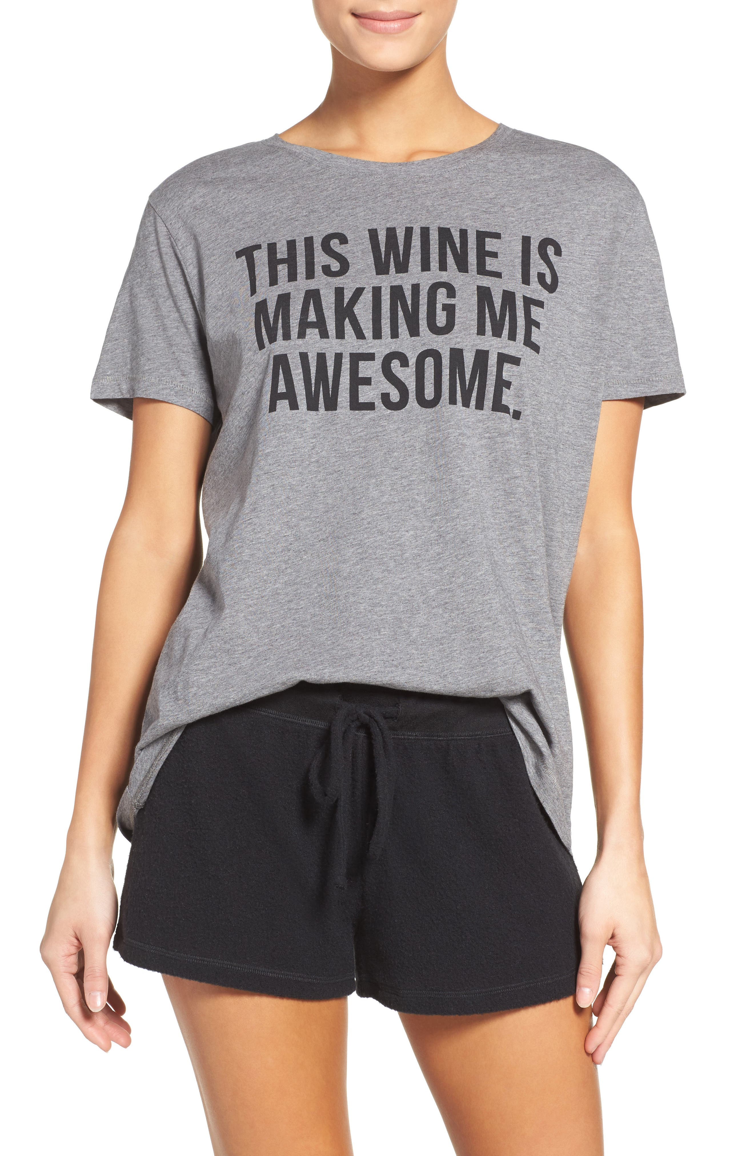 Alternate Image 1 Selected - BRUNETTE the Label The Ryan - Wine Lounge Tee