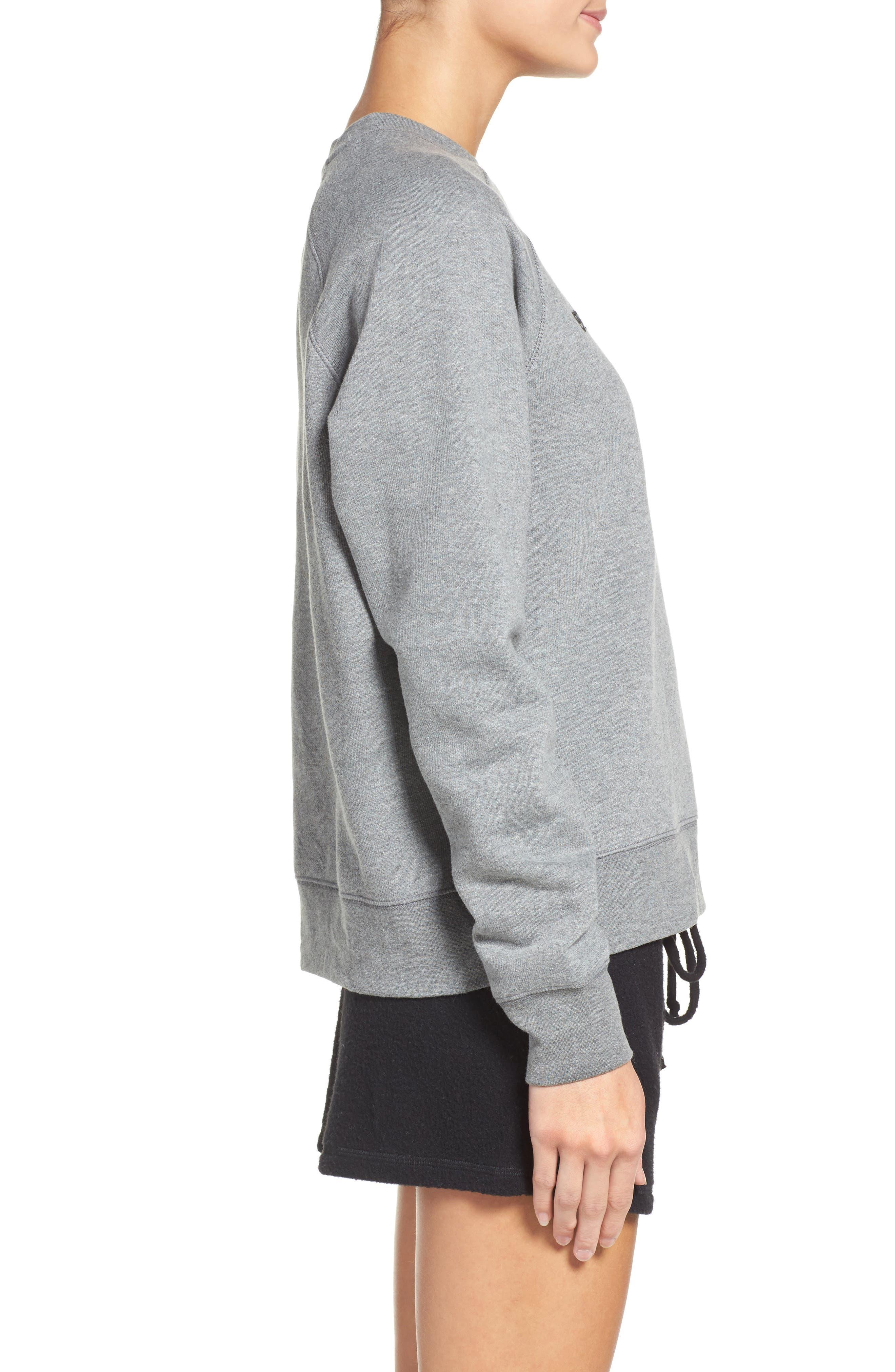 Alternate Image 3  - BRUNETTE the Label Crewneck Sweatshirt