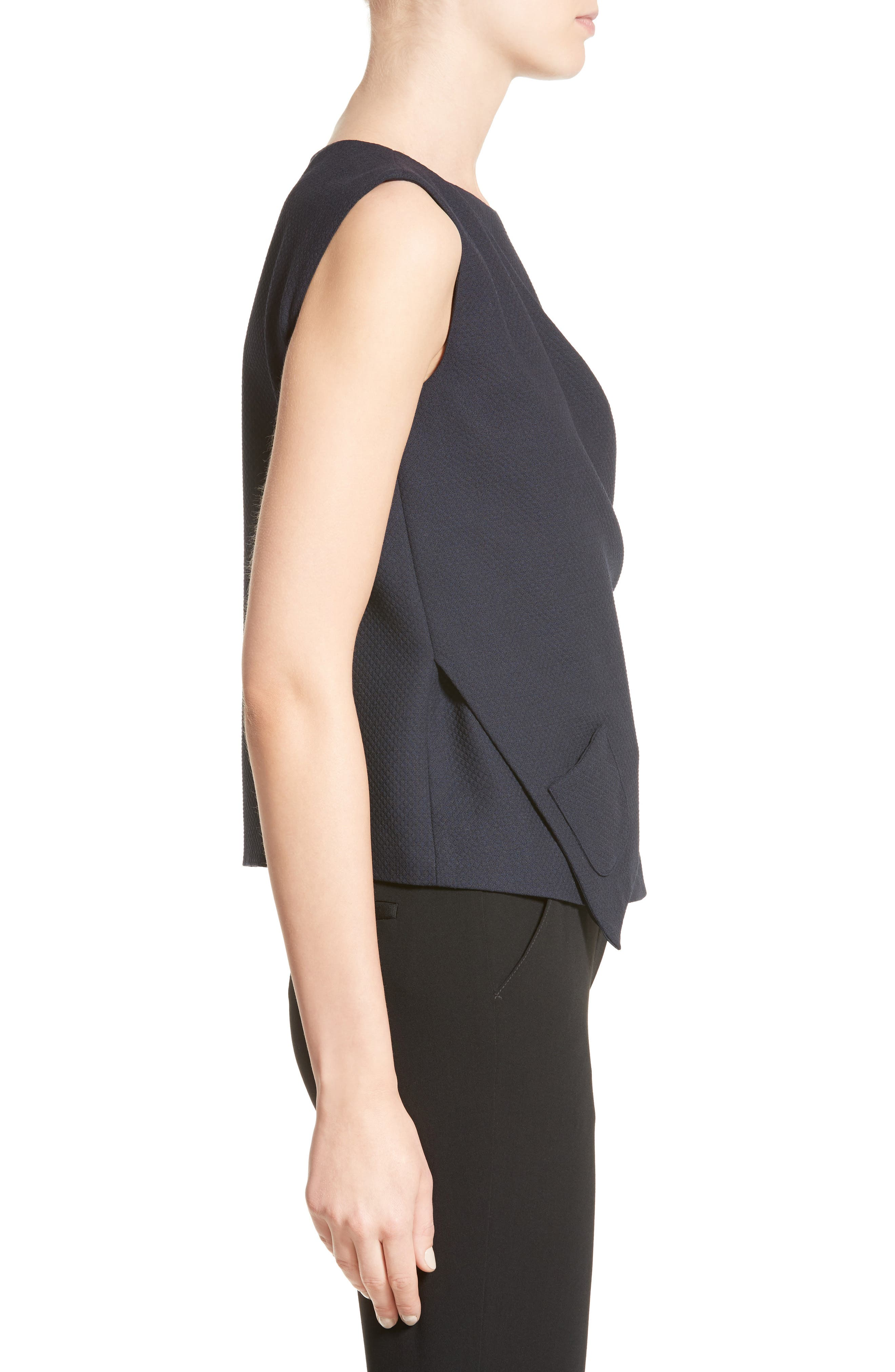 Side Tie Gilet,                             Alternate thumbnail 5, color,                             Midnight