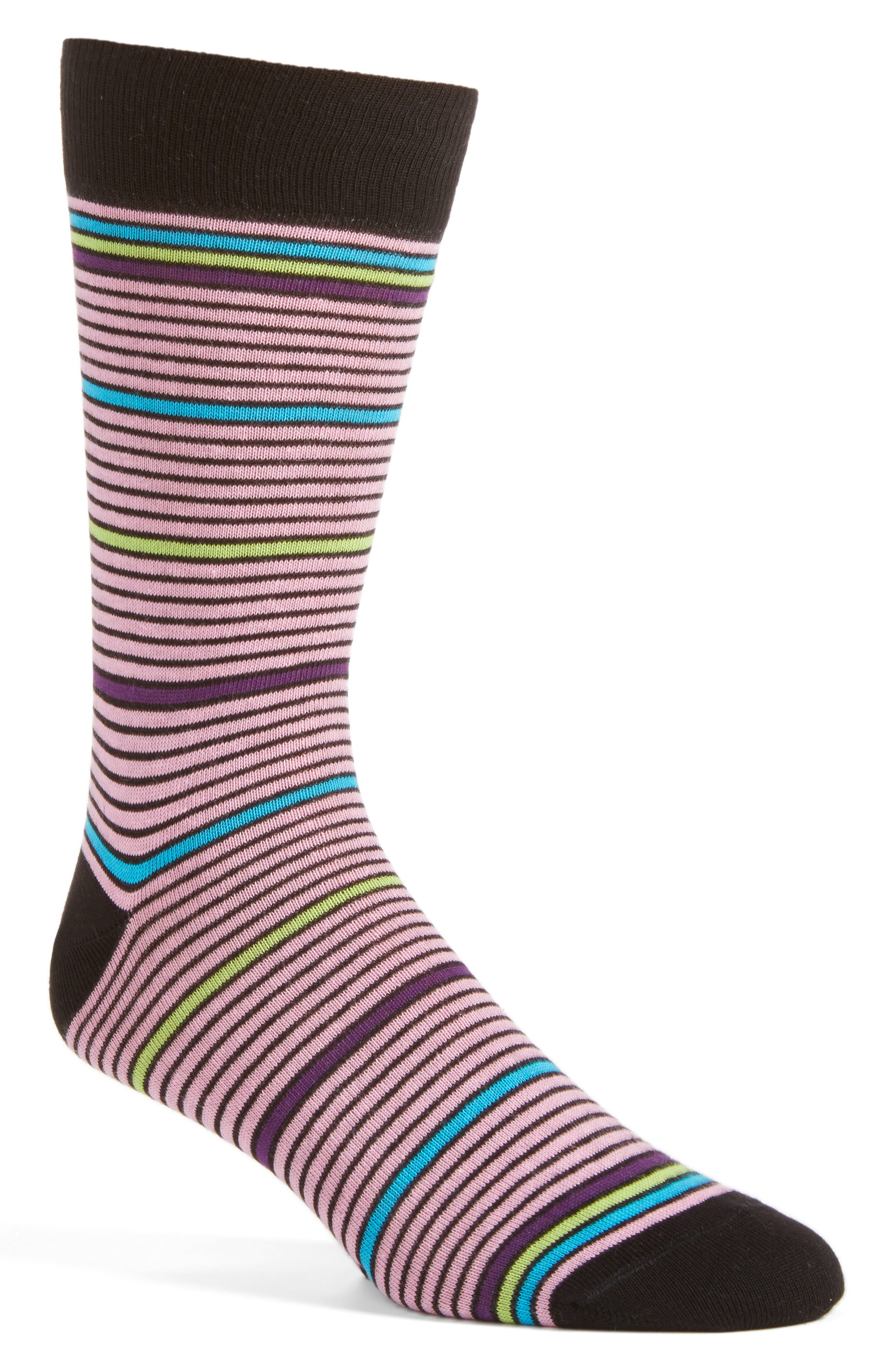 Lorenzo Uomo Stripe Crew Socks