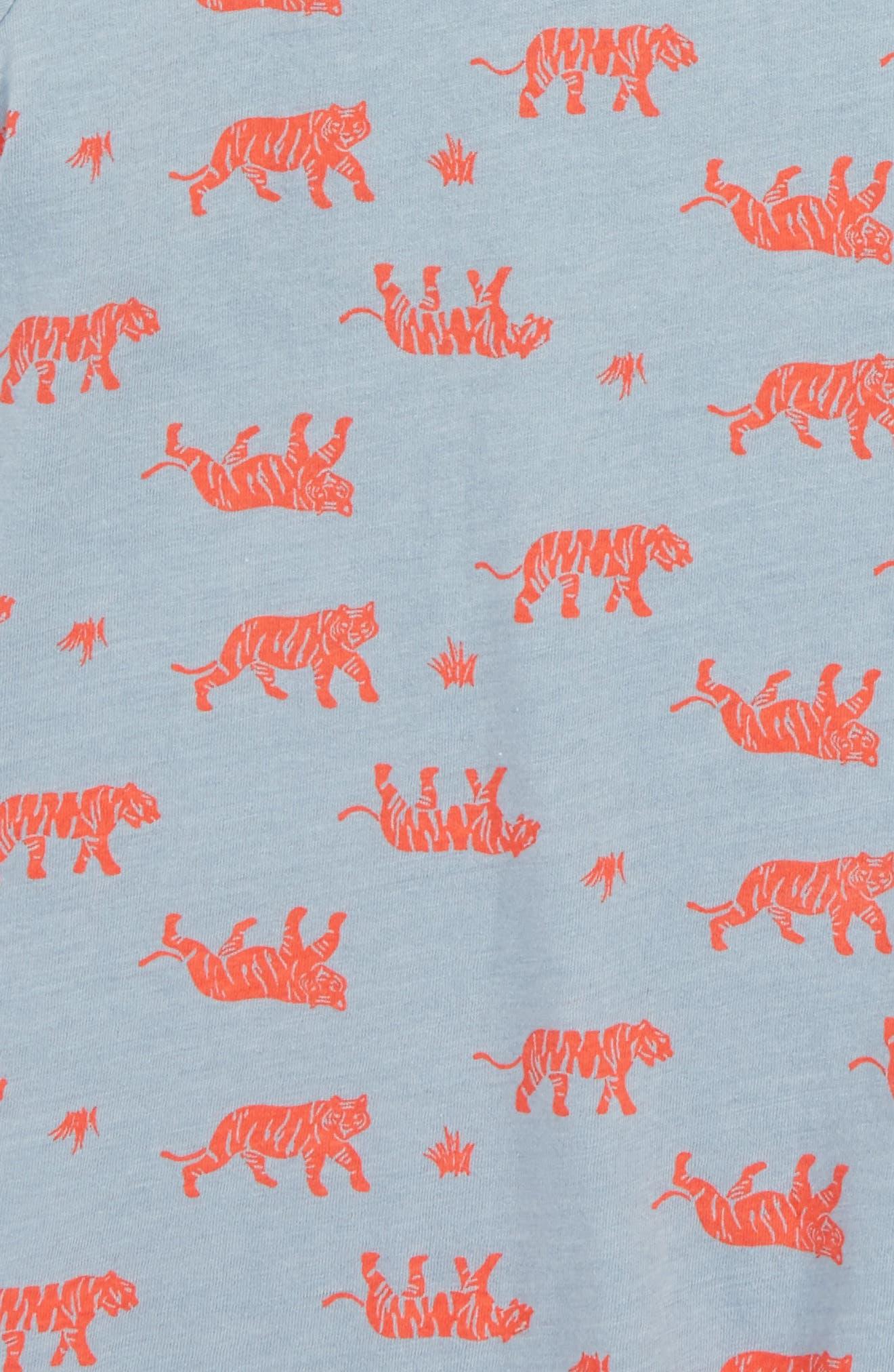Print Shirt,                             Alternate thumbnail 2, color,                             Blue Ashley Tigers