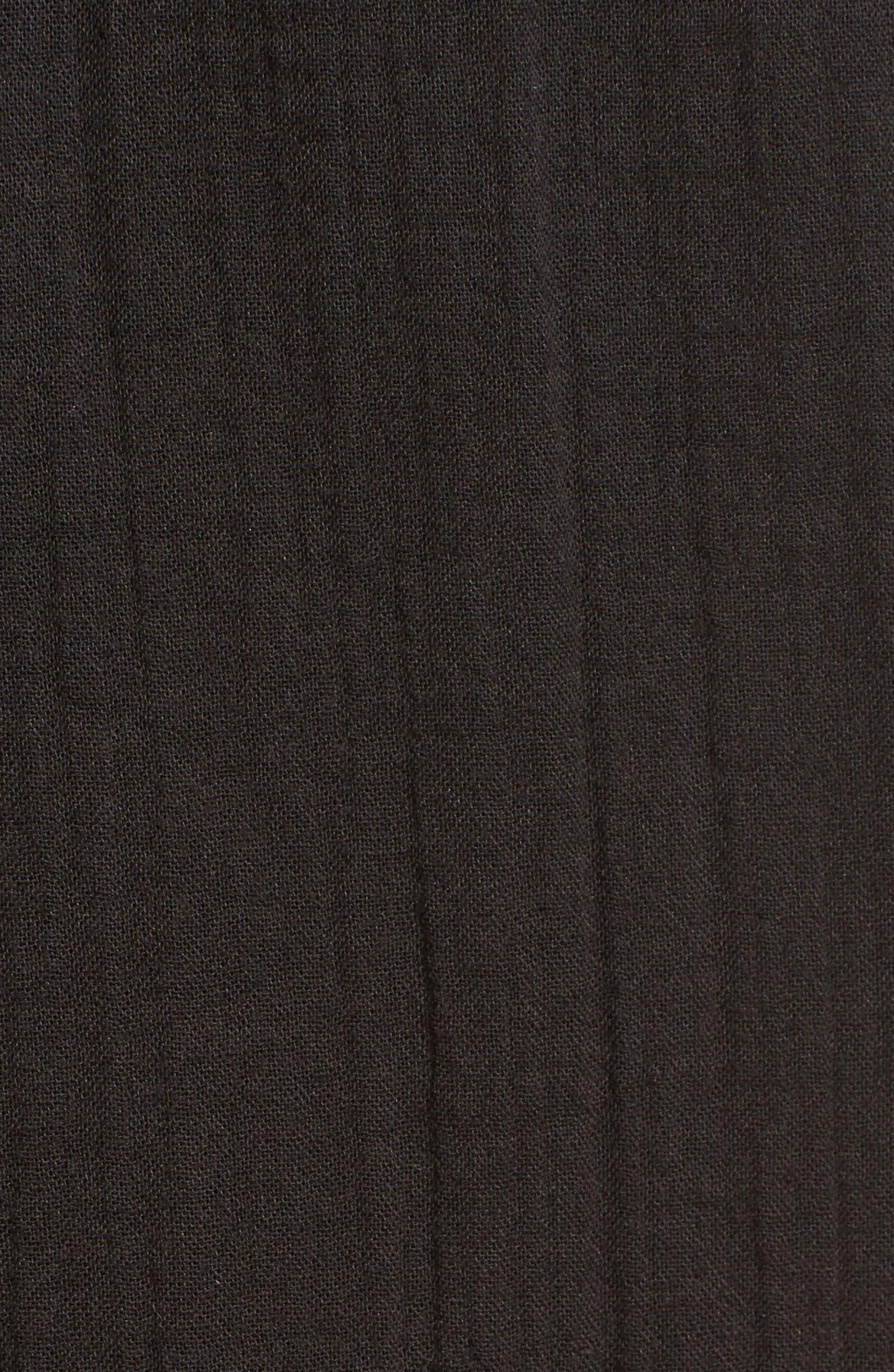 Organic Cotton Crop Pants,                             Alternate thumbnail 5, color,                             Black