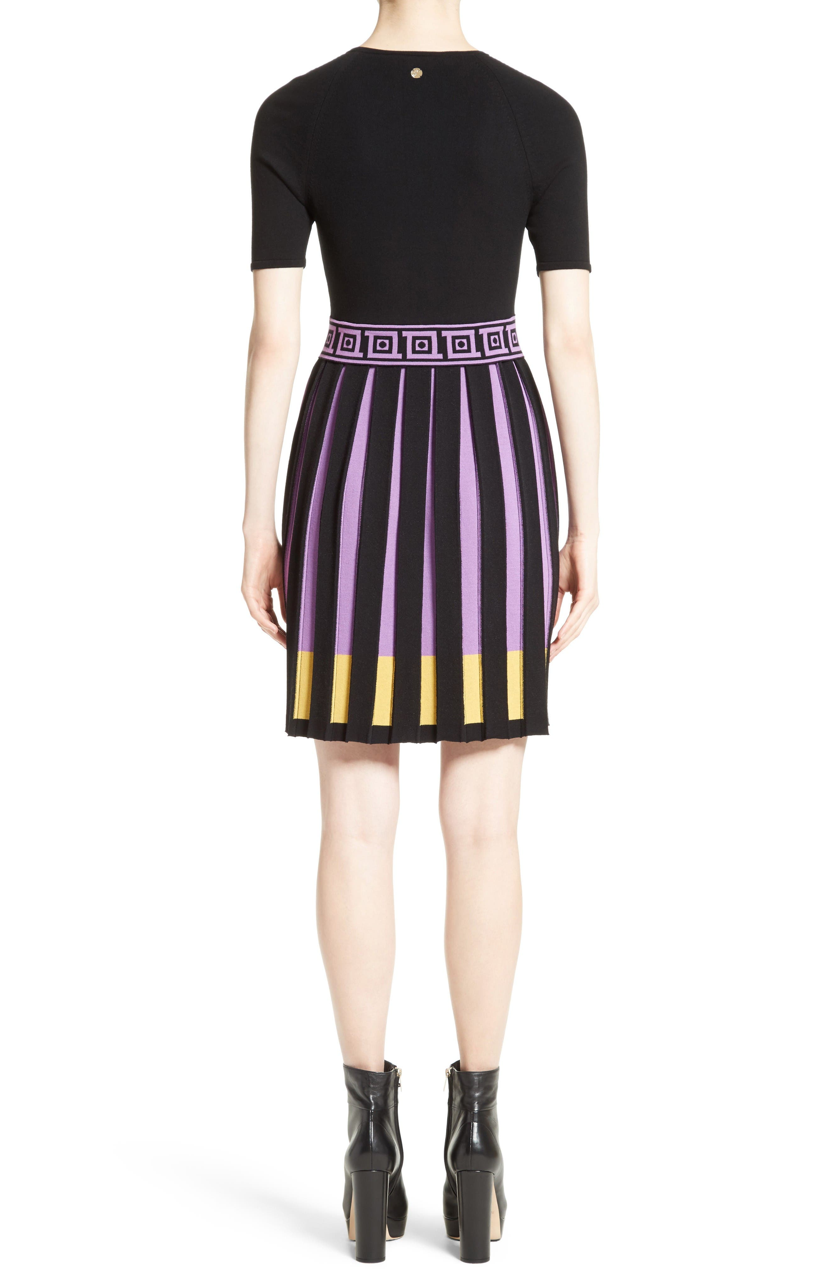 Alternate Image 2  - Versace Collection Knit Fit & Flare Dress