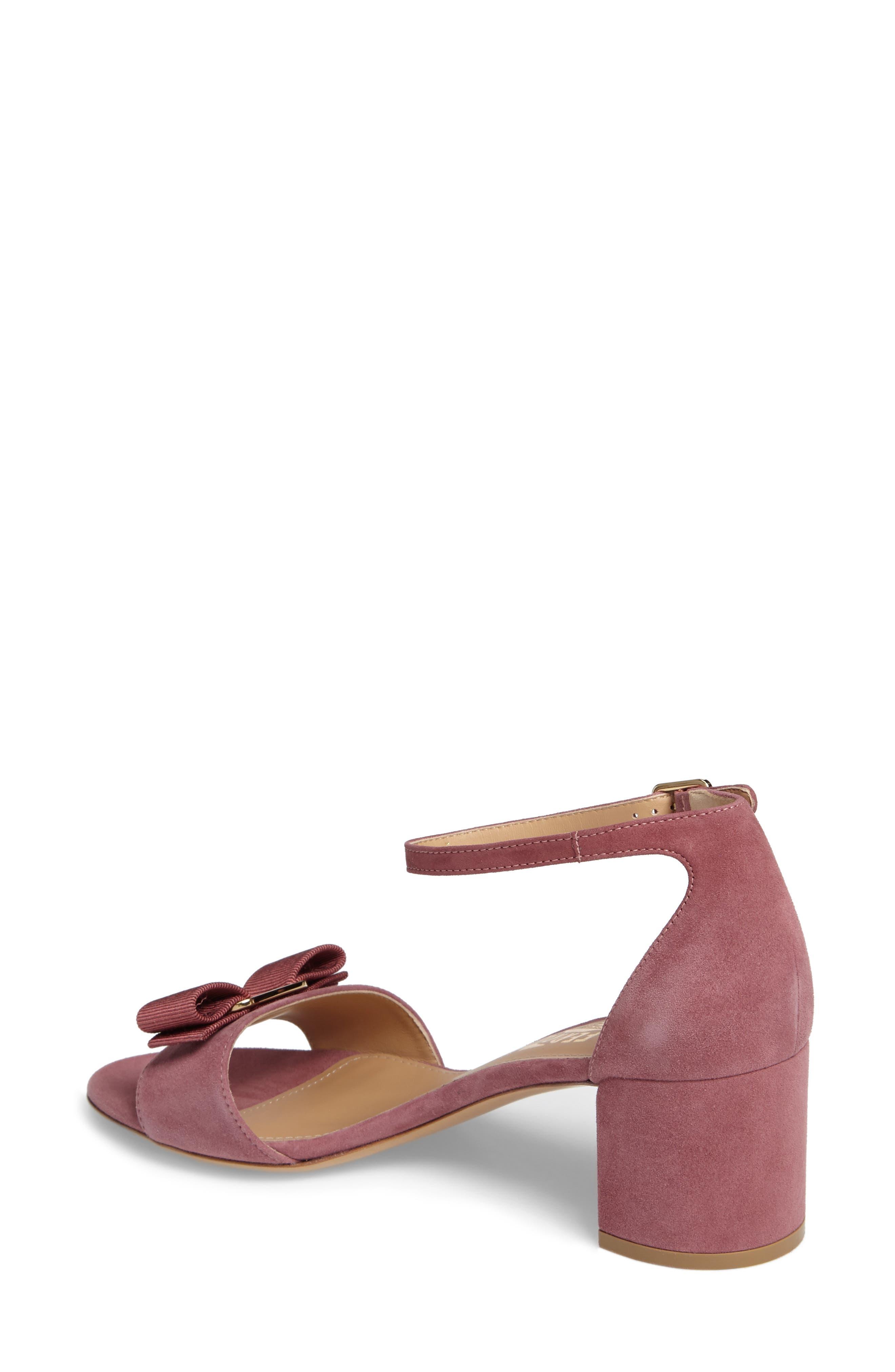 Alternate Image 2  - Salvatore Ferragamo Block Heel Bow Sandal (Women)