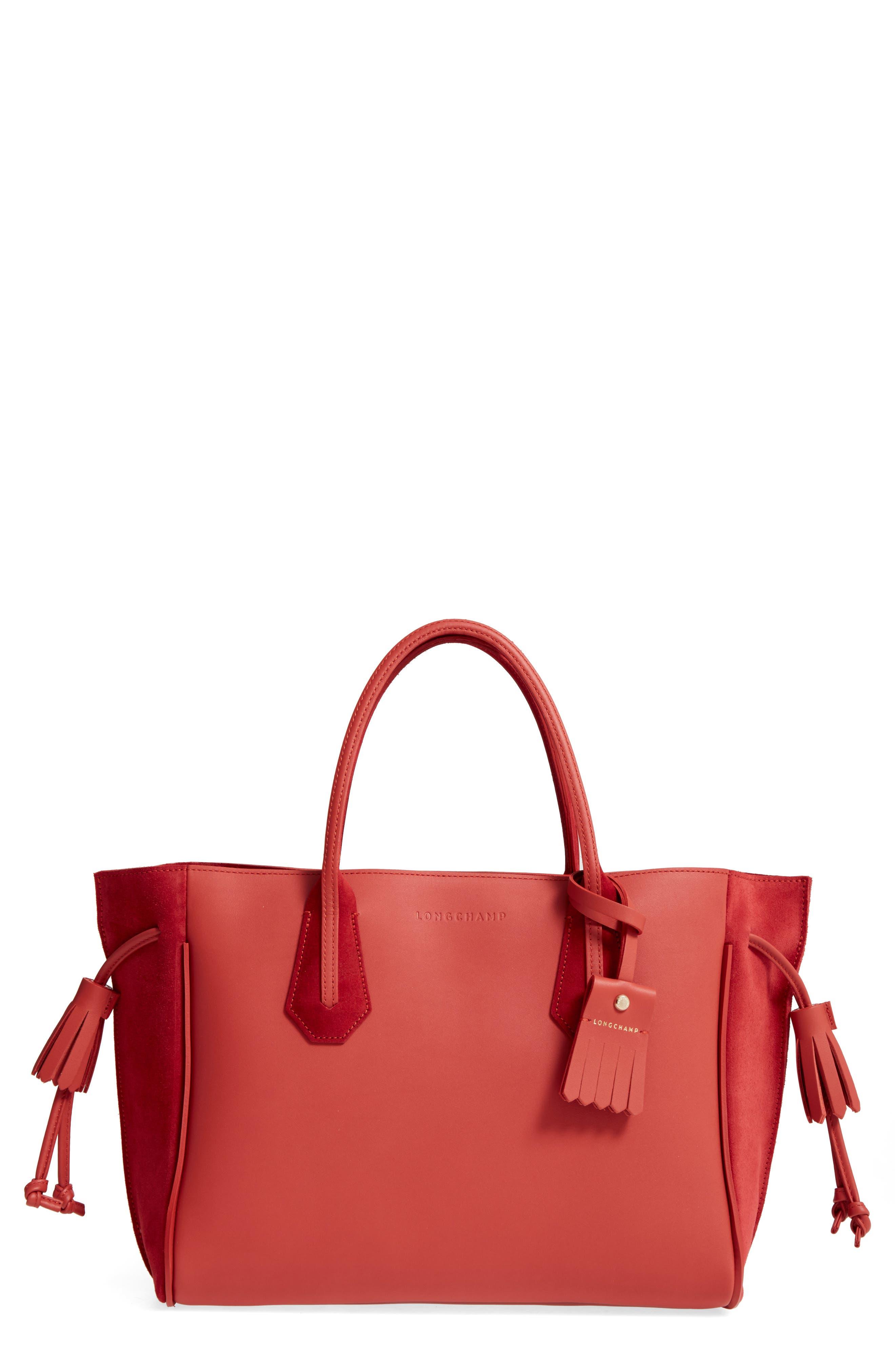 Main Image - Longchamp Medium Penelope Fastaisie Leather Tote