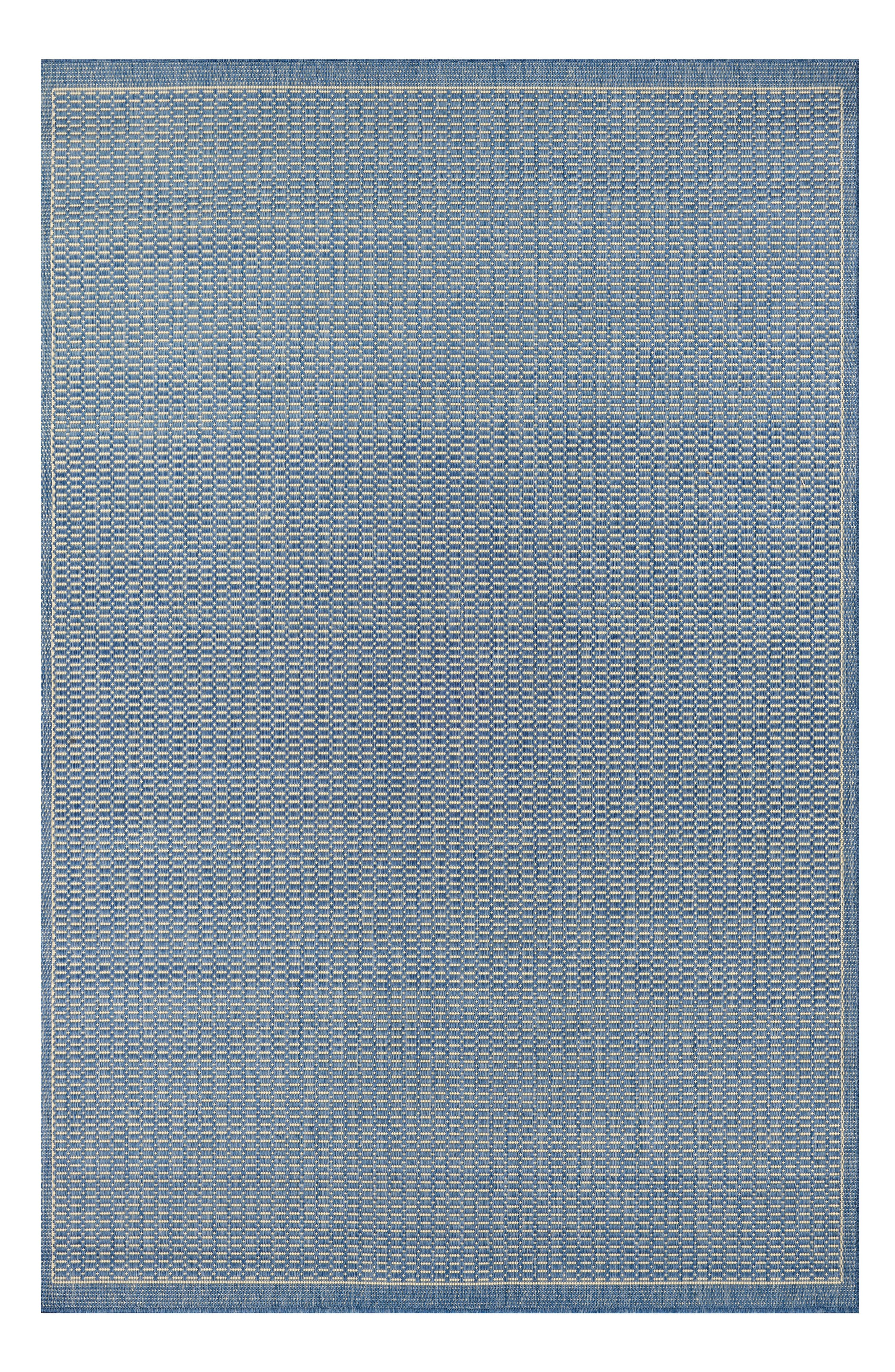 Saddlestitch Indoor/Outdoor Rug,                             Main thumbnail 1, color,                             Champagne/ Blue