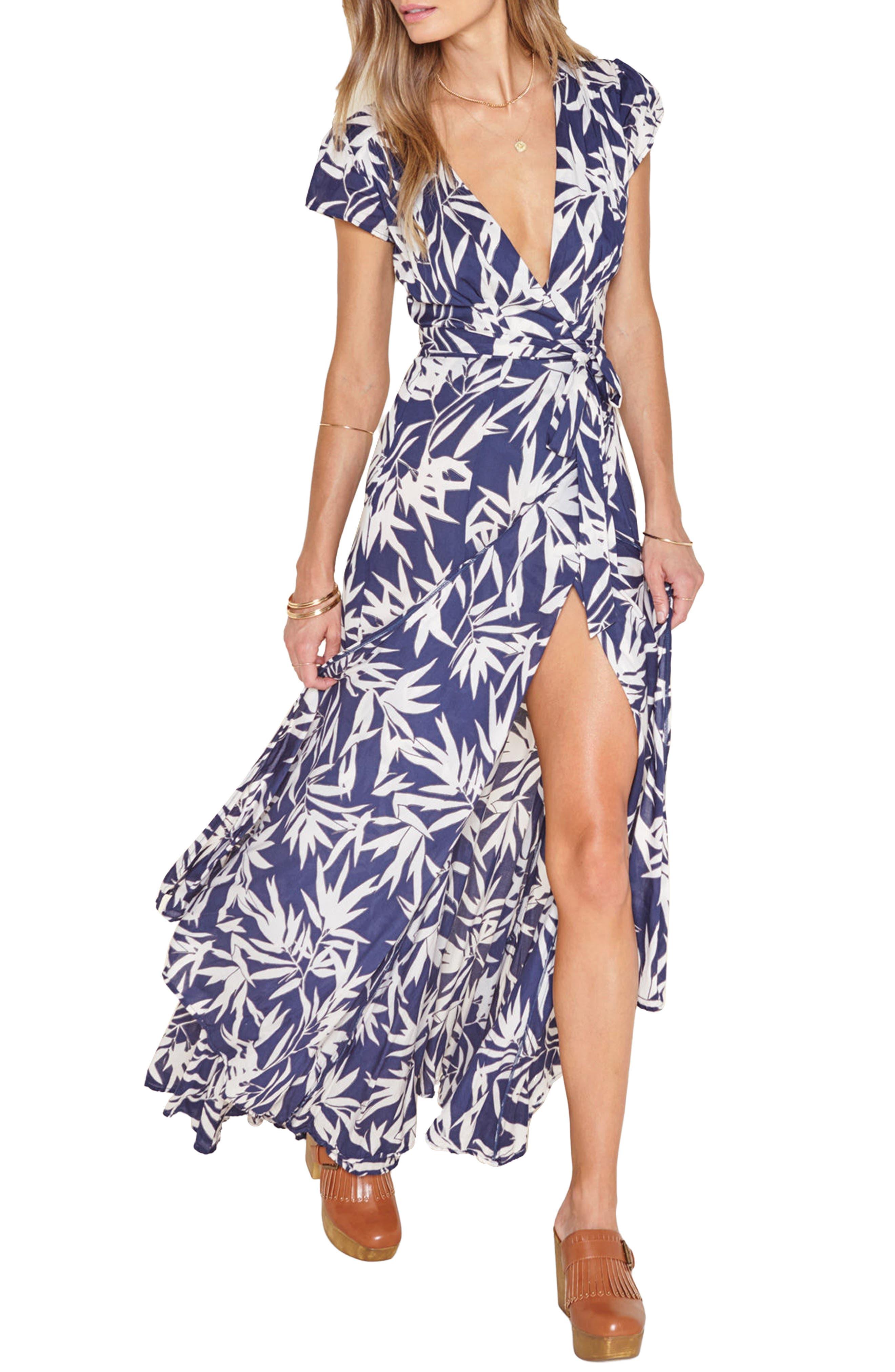 Amuse Society Provence Maxi Wrap Dress