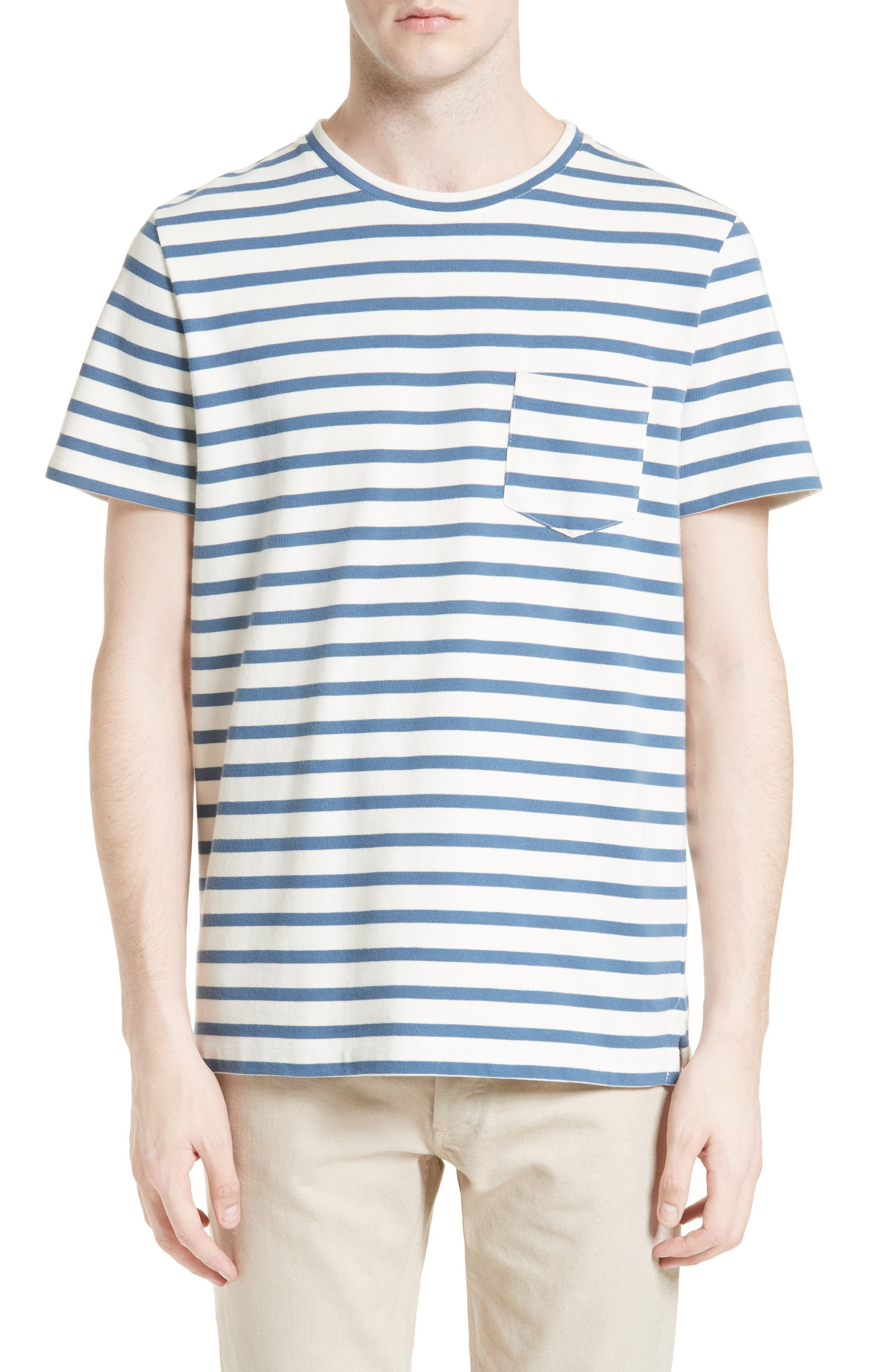 A.P.C. Michael Stripe Pocket T-Shirt