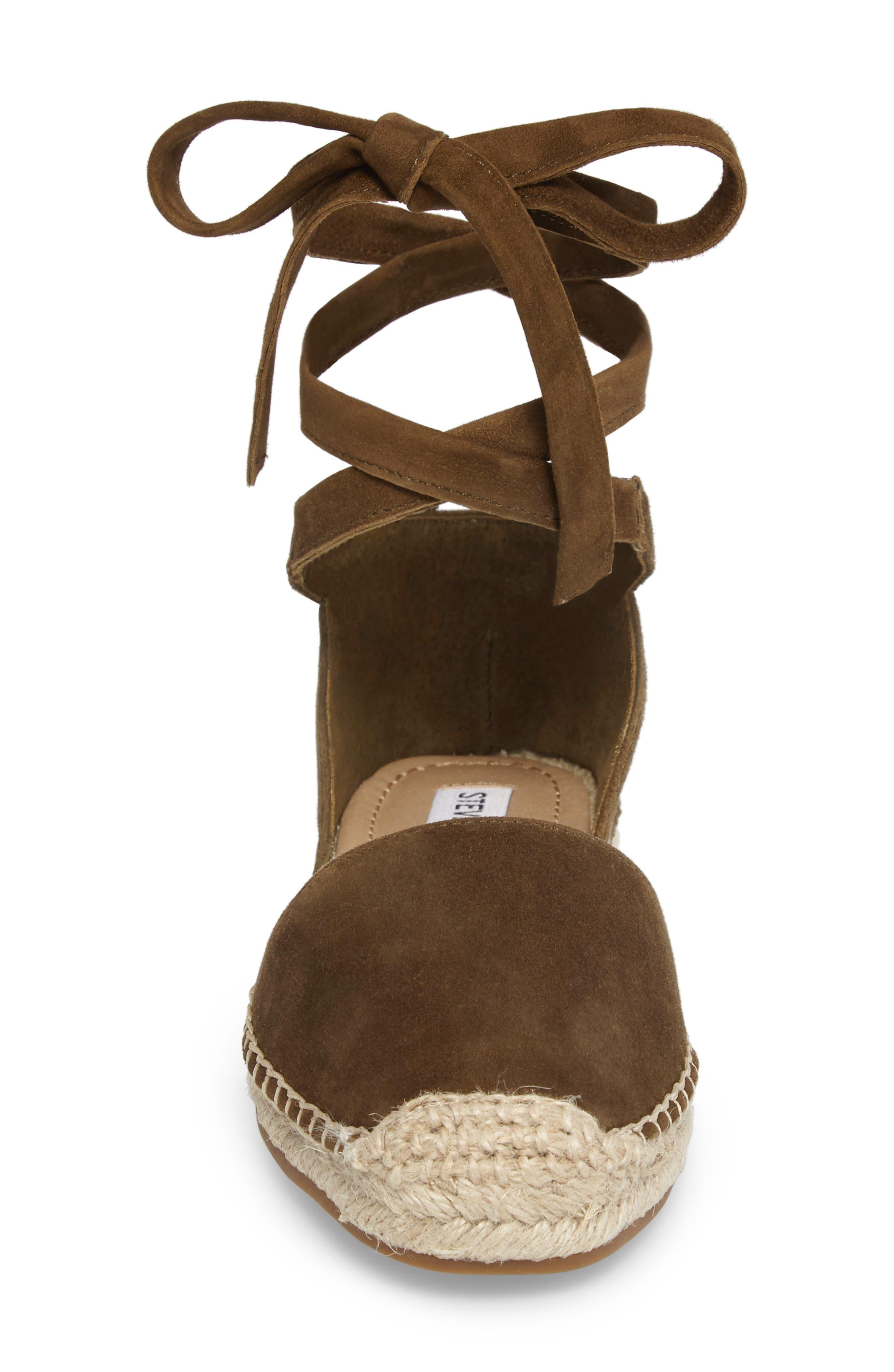 Alternate Image 4  - Steve Madden Rosette Ankle Wrap Espadrille Flat (Women)