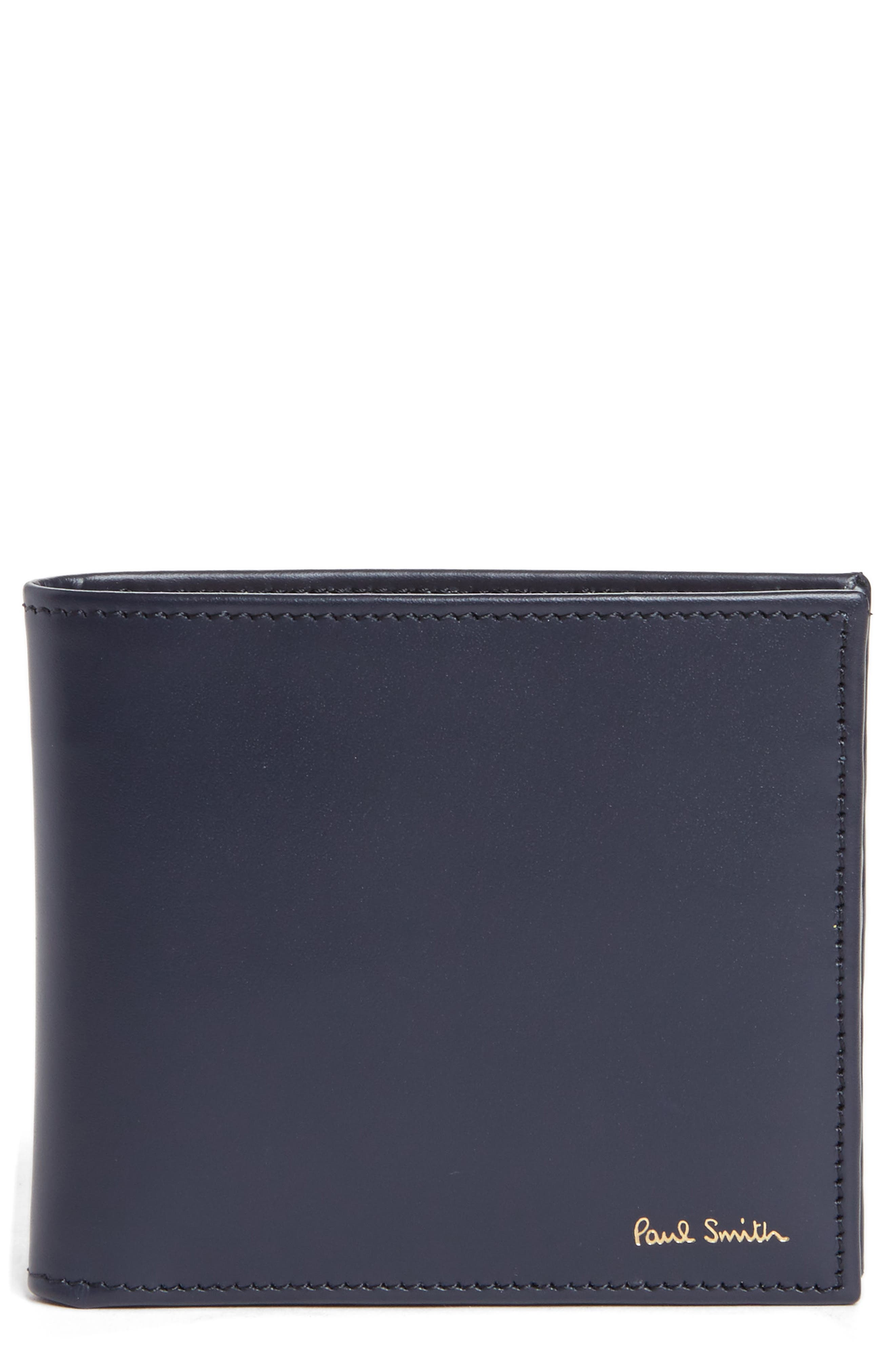 Alternate Image 1 Selected - Paul Smith Multistripe Leather Wallet
