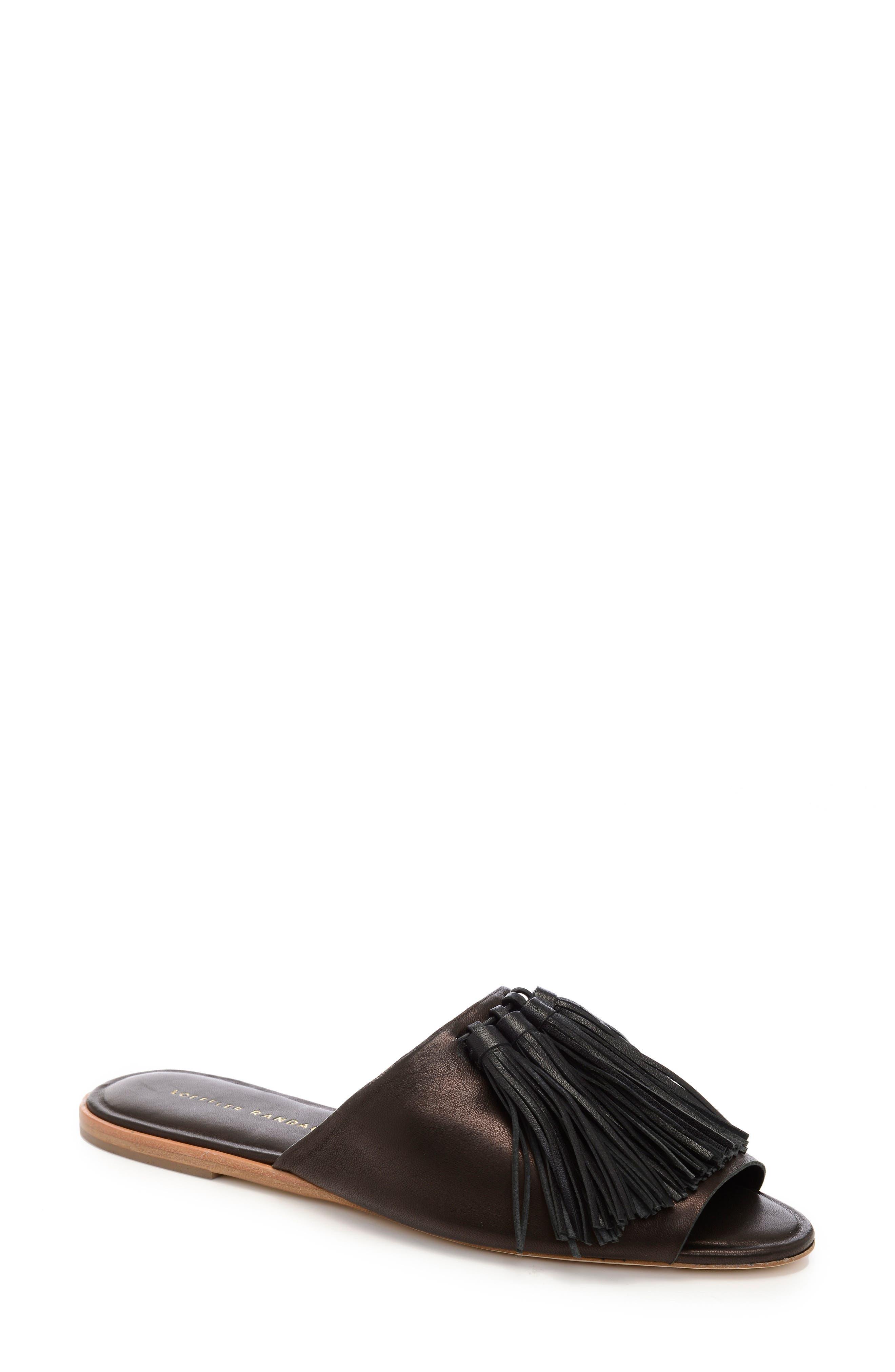 Loeffler Randall Kiki Tassel Slide Sandal (Women)