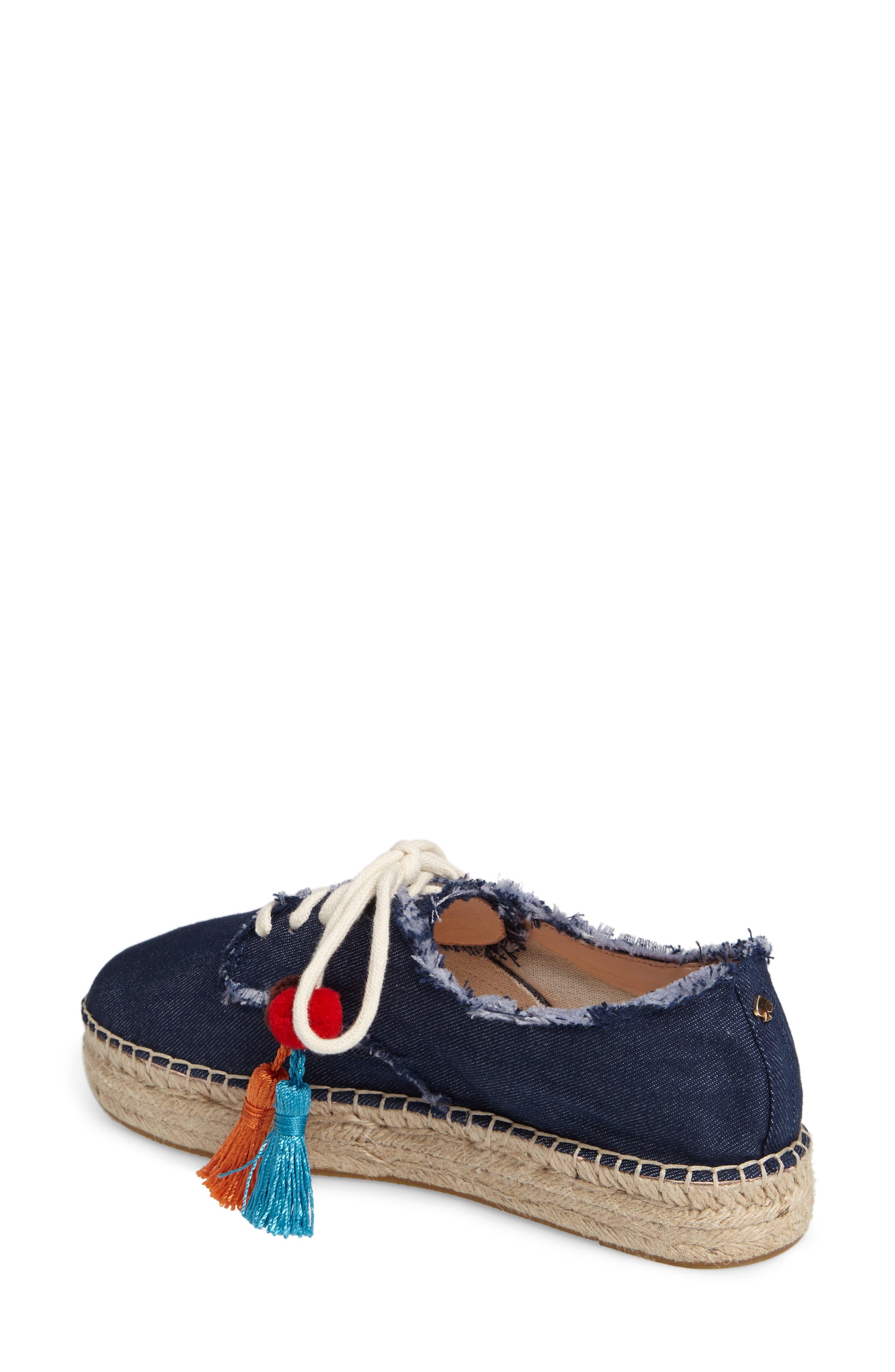 lane espadrille platform sneaker,                             Alternate thumbnail 2, color,                             Blue Jeans