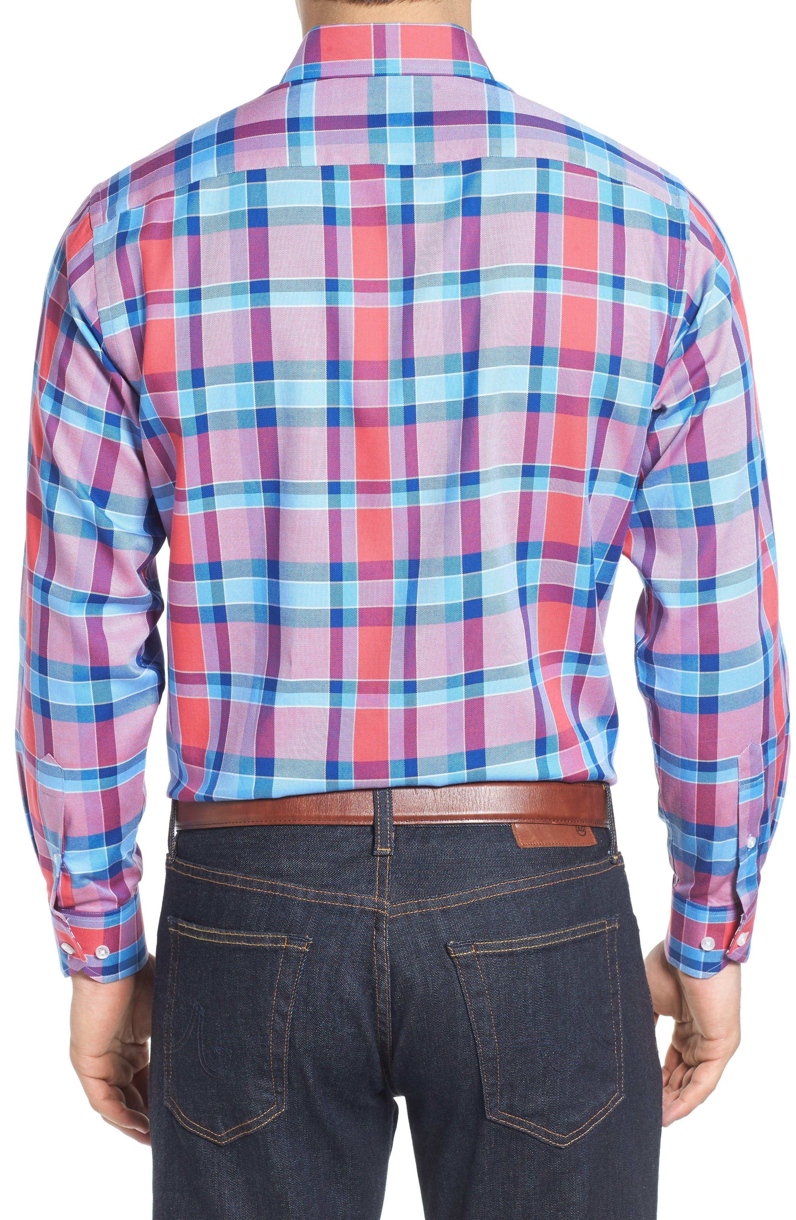 Alternate Image 2  - Tailorbyrd Redwood Plaid Sport Shirt