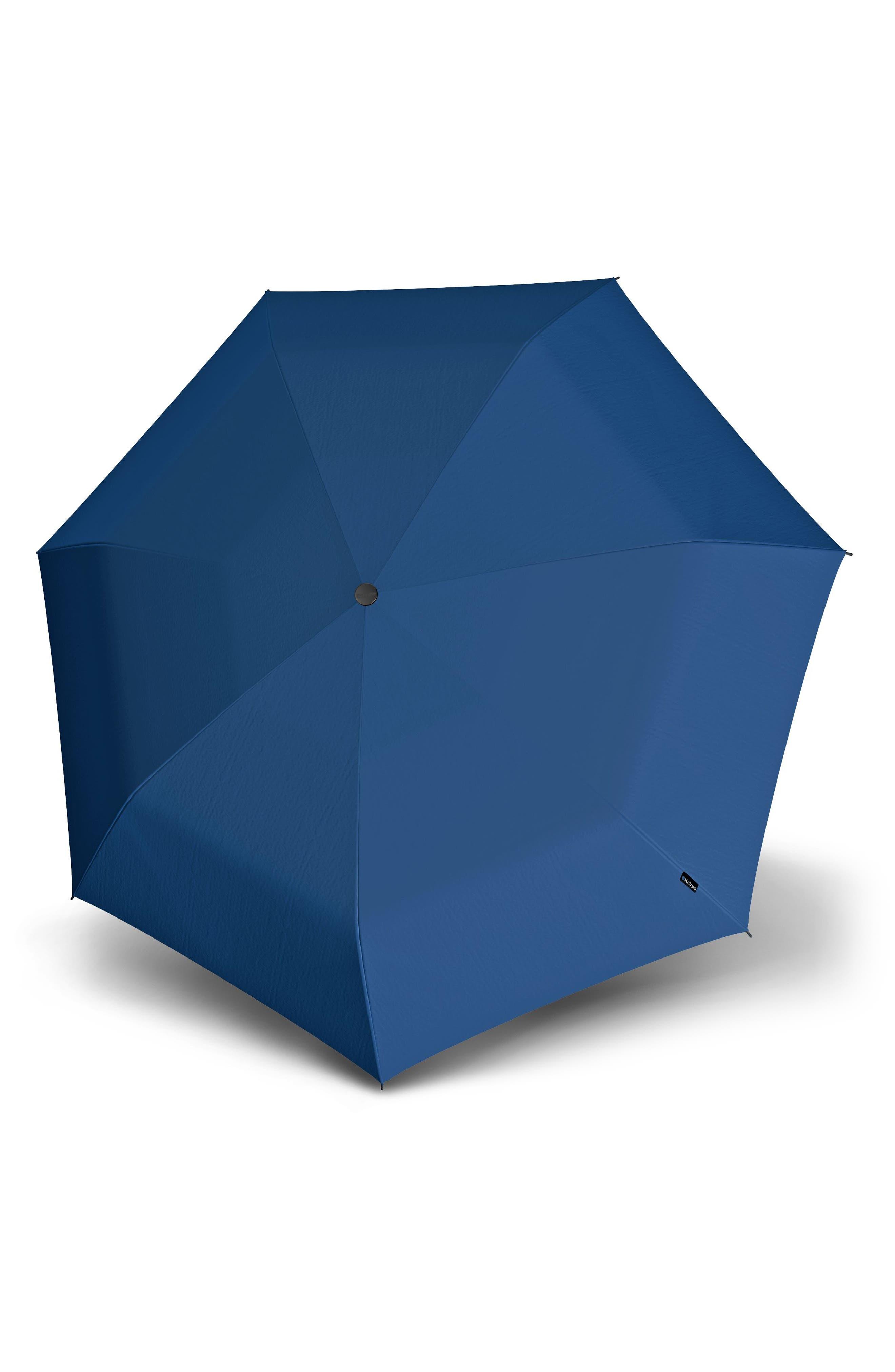T2 Duomatic Compact Auto Open/Close Umbrella,                         Main,                         color, Ocean Blue