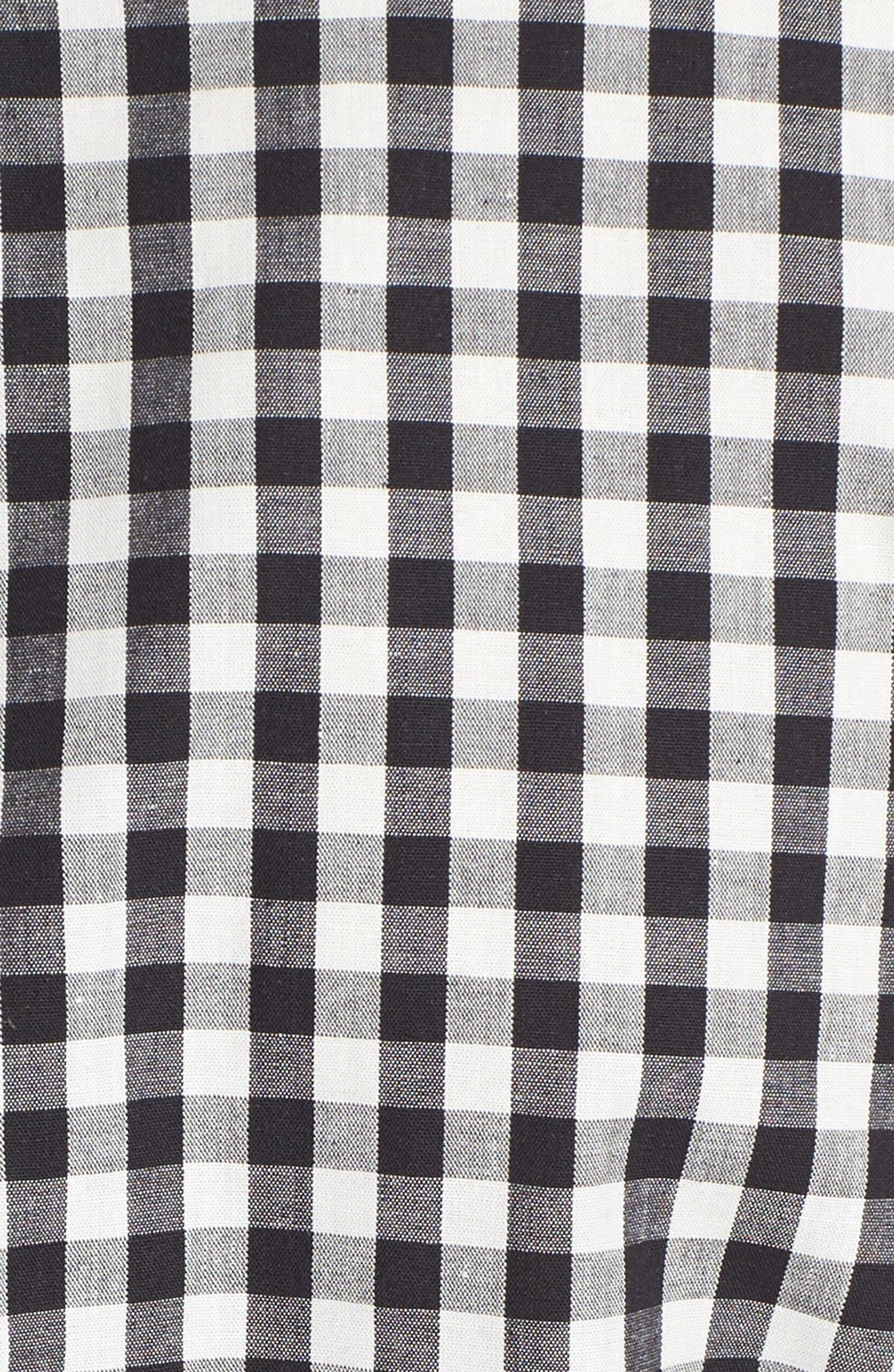 Alternate Image 5  - Gibson Woven Back French Terry Sweatshirt (Regular & Petite)