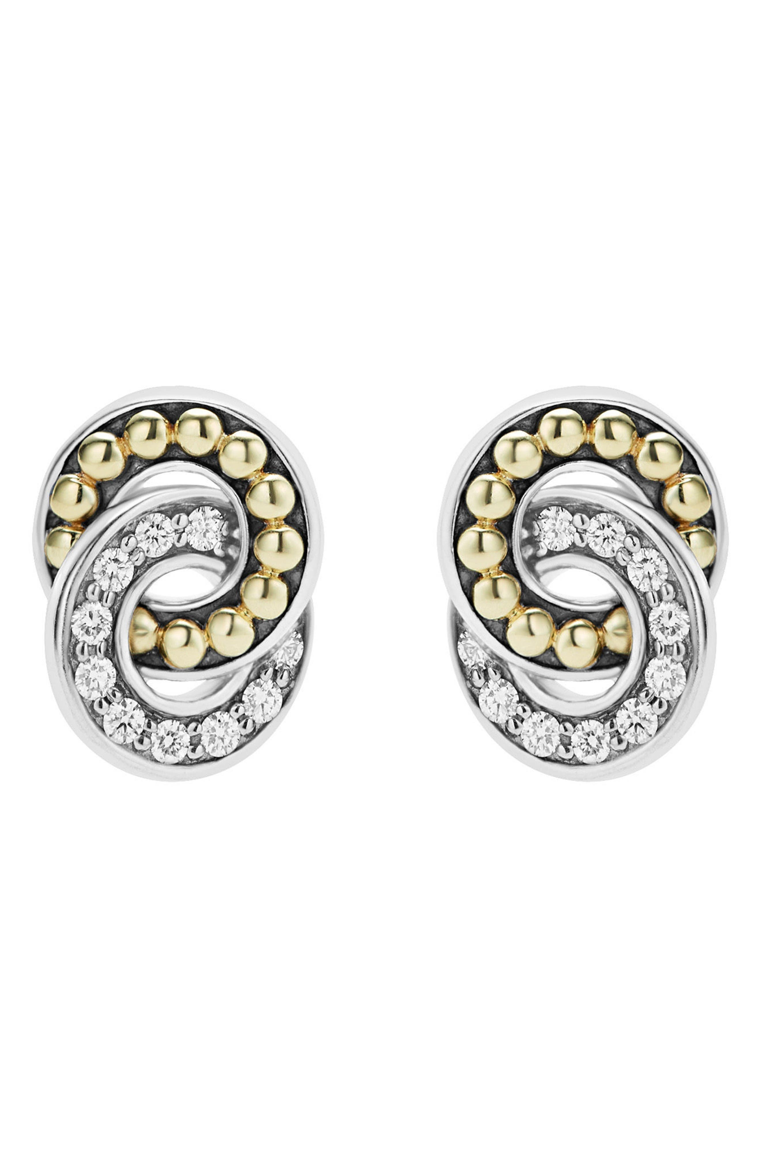 Alternate Image 2  - LAGOS Enso Diamond Stud Earrings