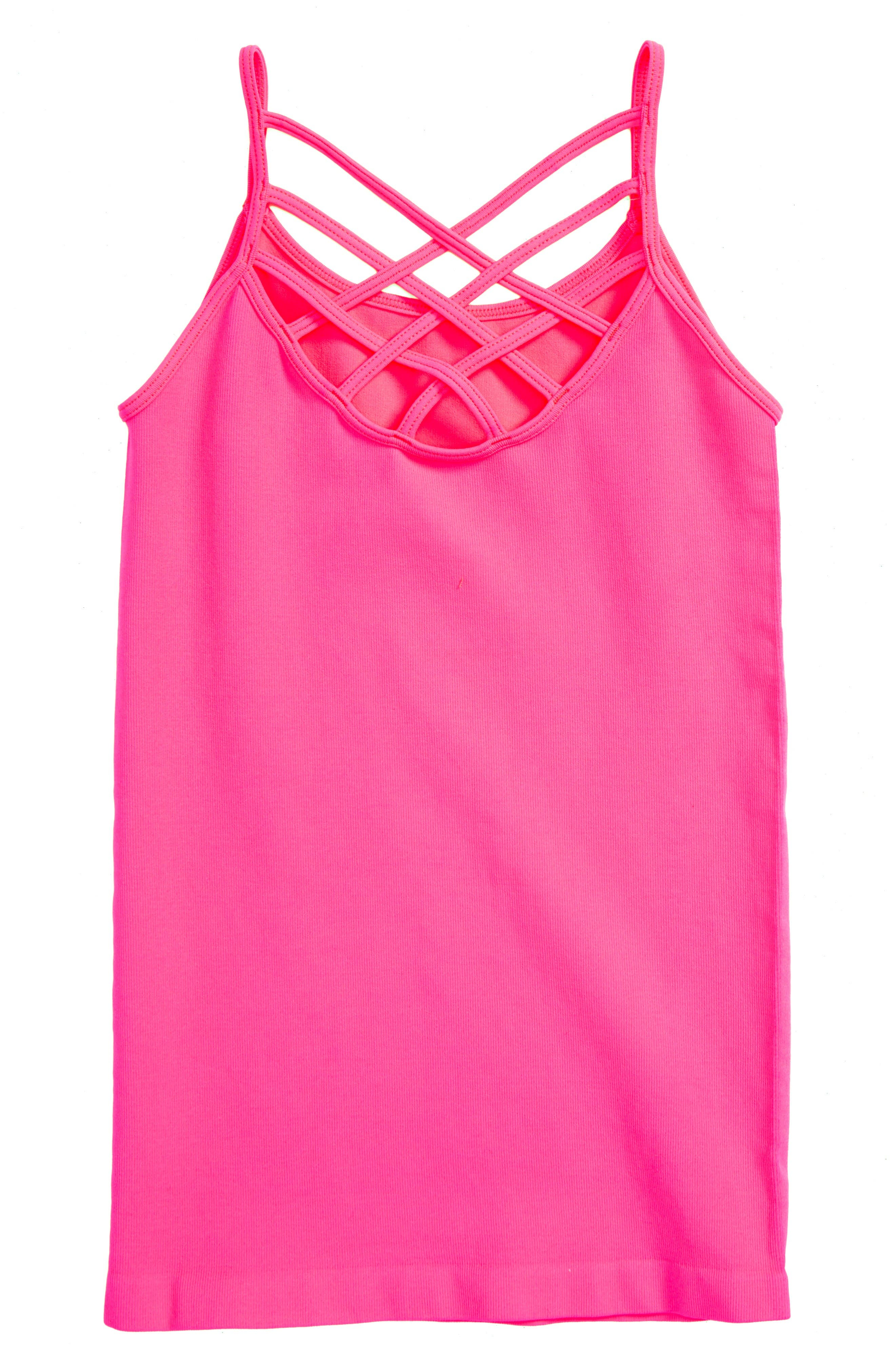 Strappy Tank,                             Main thumbnail 1, color,                             Shocking Pink