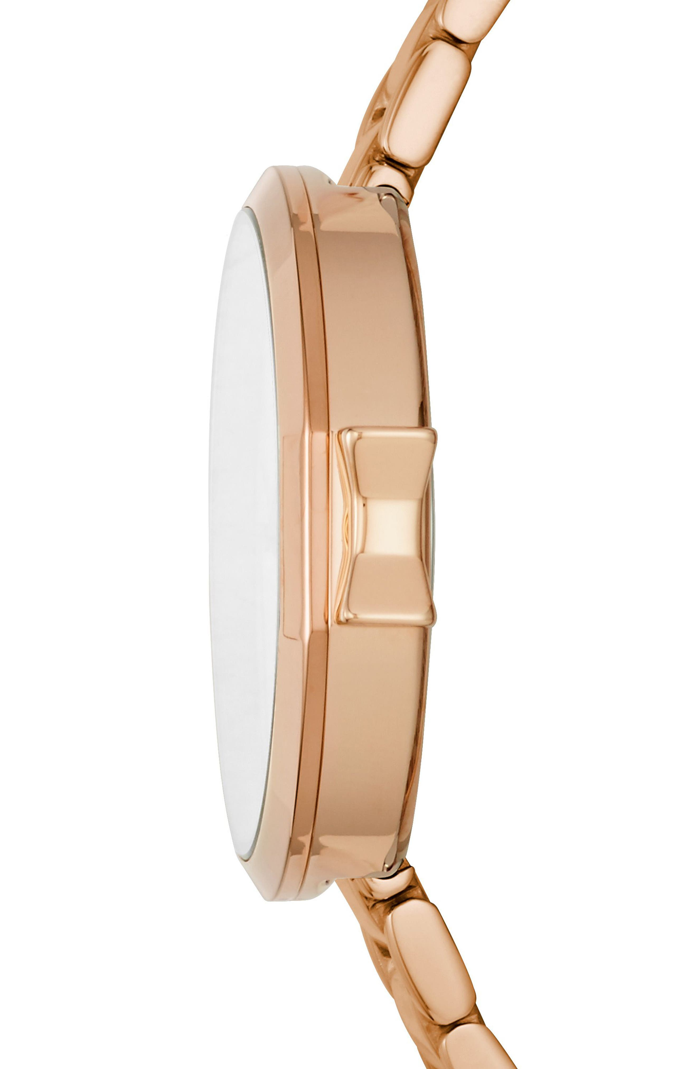 park row bracelet watch, 34mm,                             Alternate thumbnail 2, color,                             Rose Gold/ Mother Of Pearl