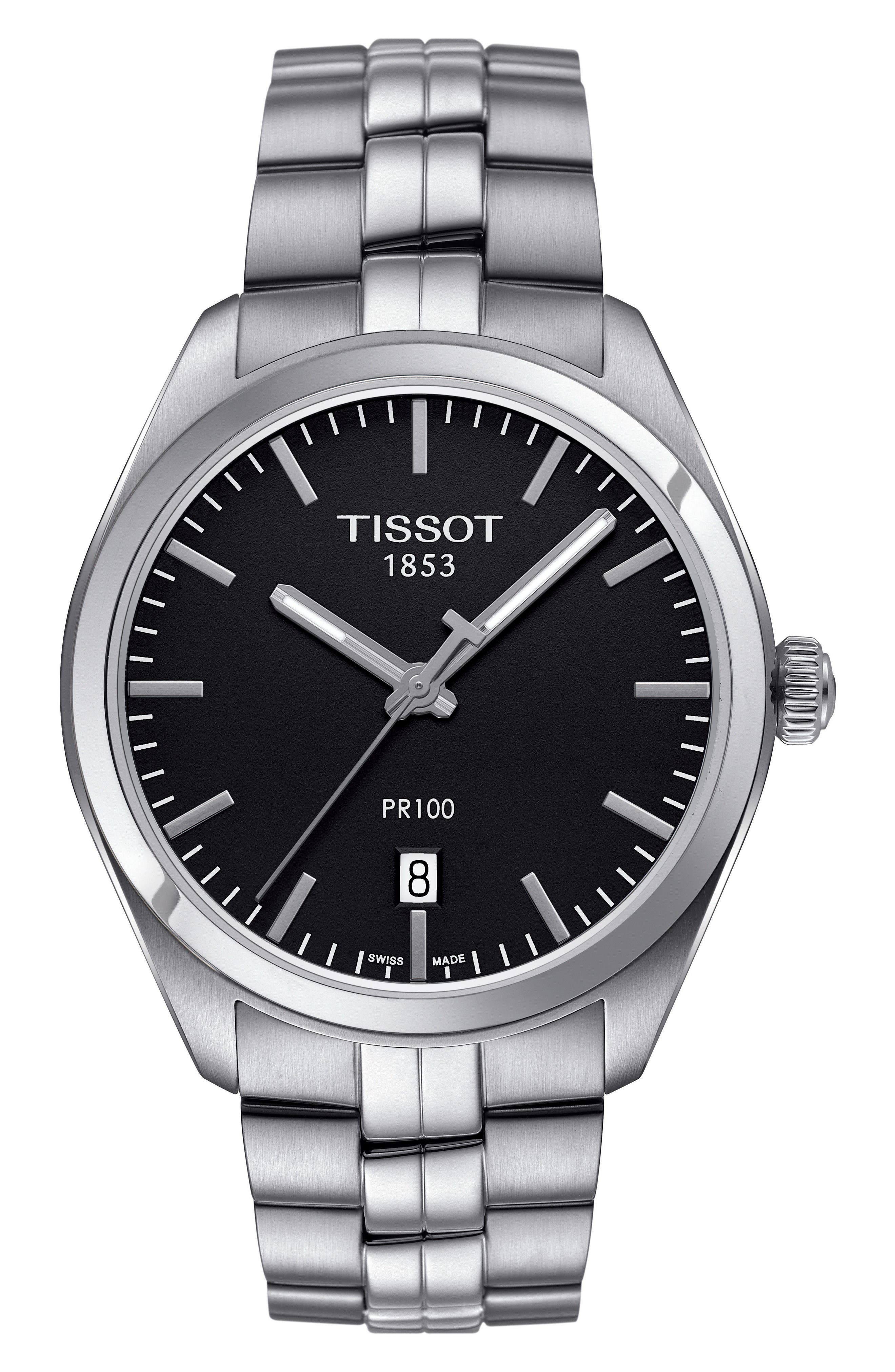 Alternate Image 1 Selected - Tissot PR100 Bracelet Watch, 39mm