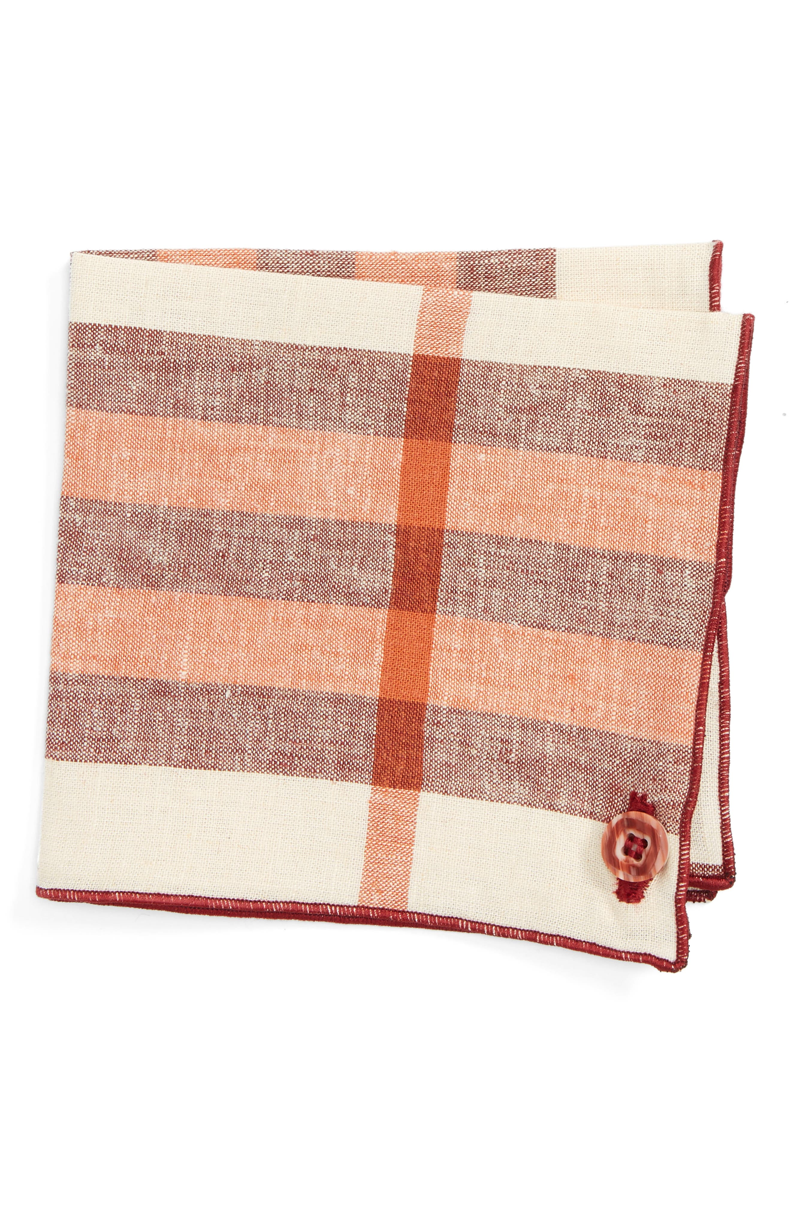 Armstrong & Wilson Dusty Windows Linen Pocket Square