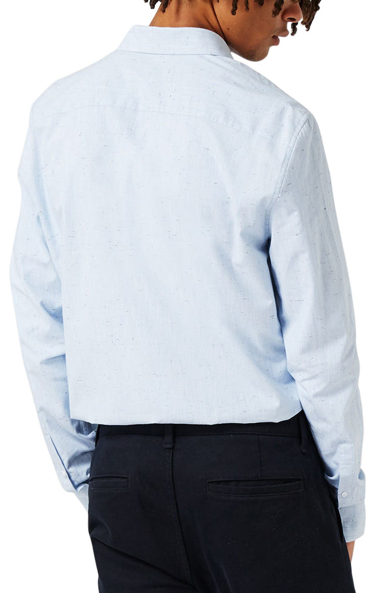 Alternate Image 4  - Topman Slim Fit Nep Shirt
