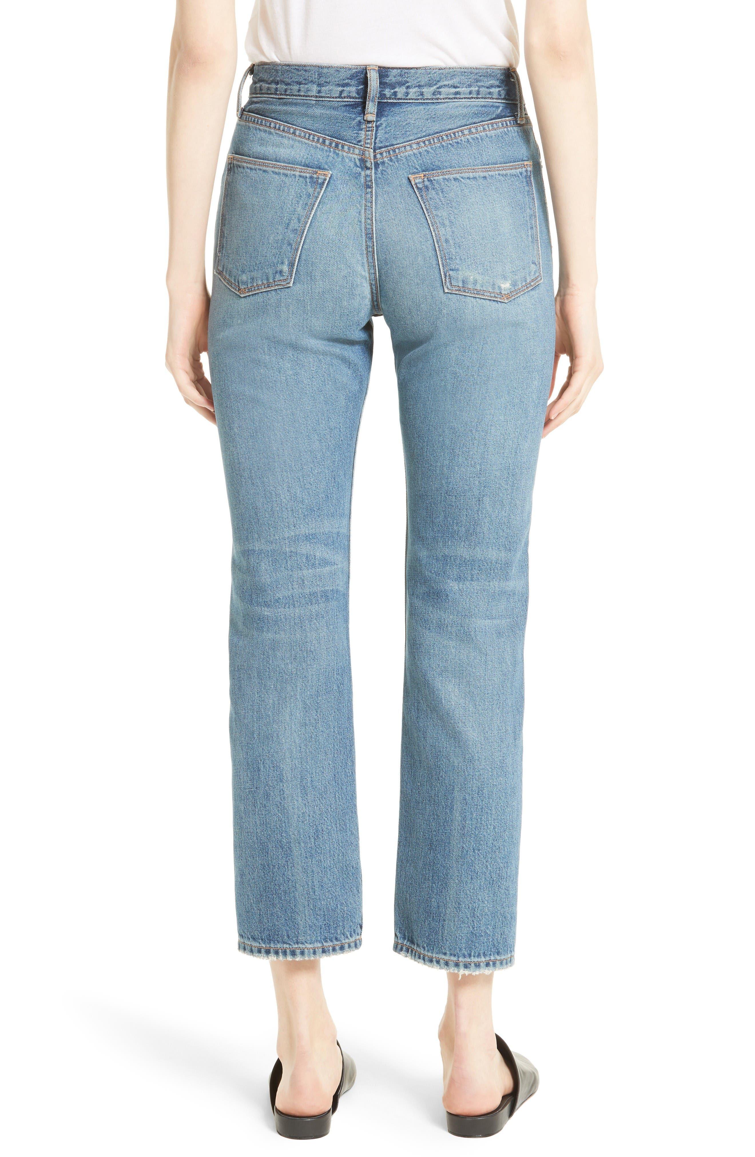 High Waist Vintage Straight Leg Jeans,                             Alternate thumbnail 2, color,                             Medium Wash