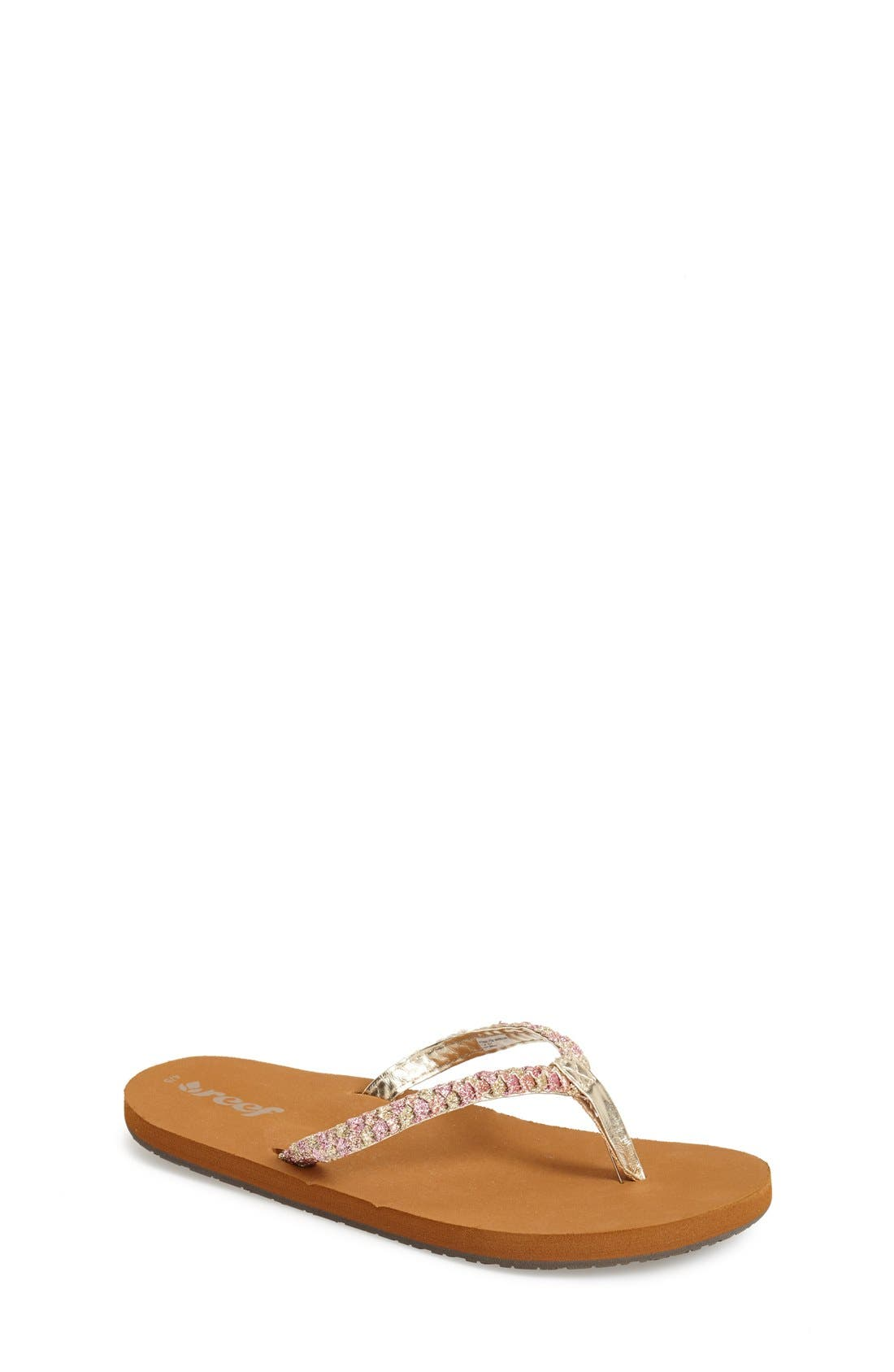 Main Image - Reef 'Little Twisted Stars' Sandal (Walker, Toddler, Little Kid & Big Kid)
