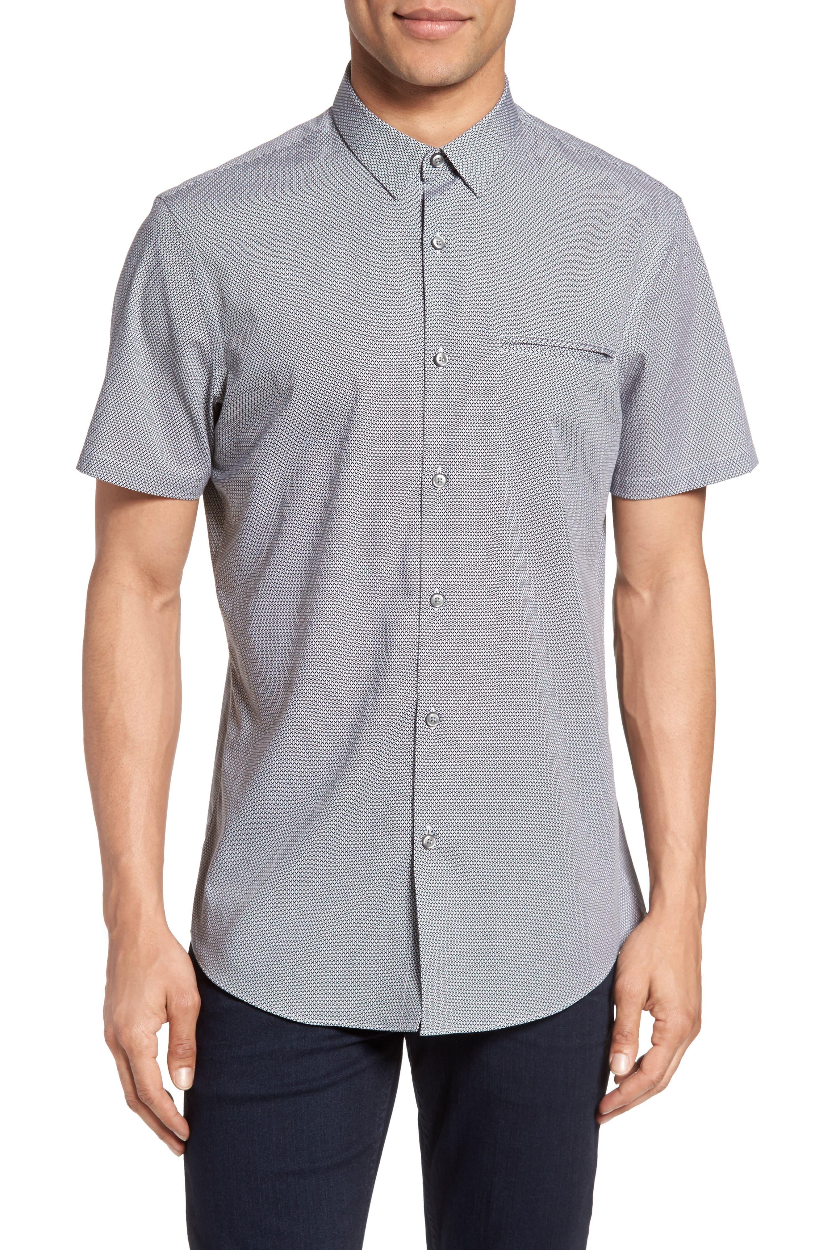 CALIBRATE Non-Iron Cotton Sport Shirt