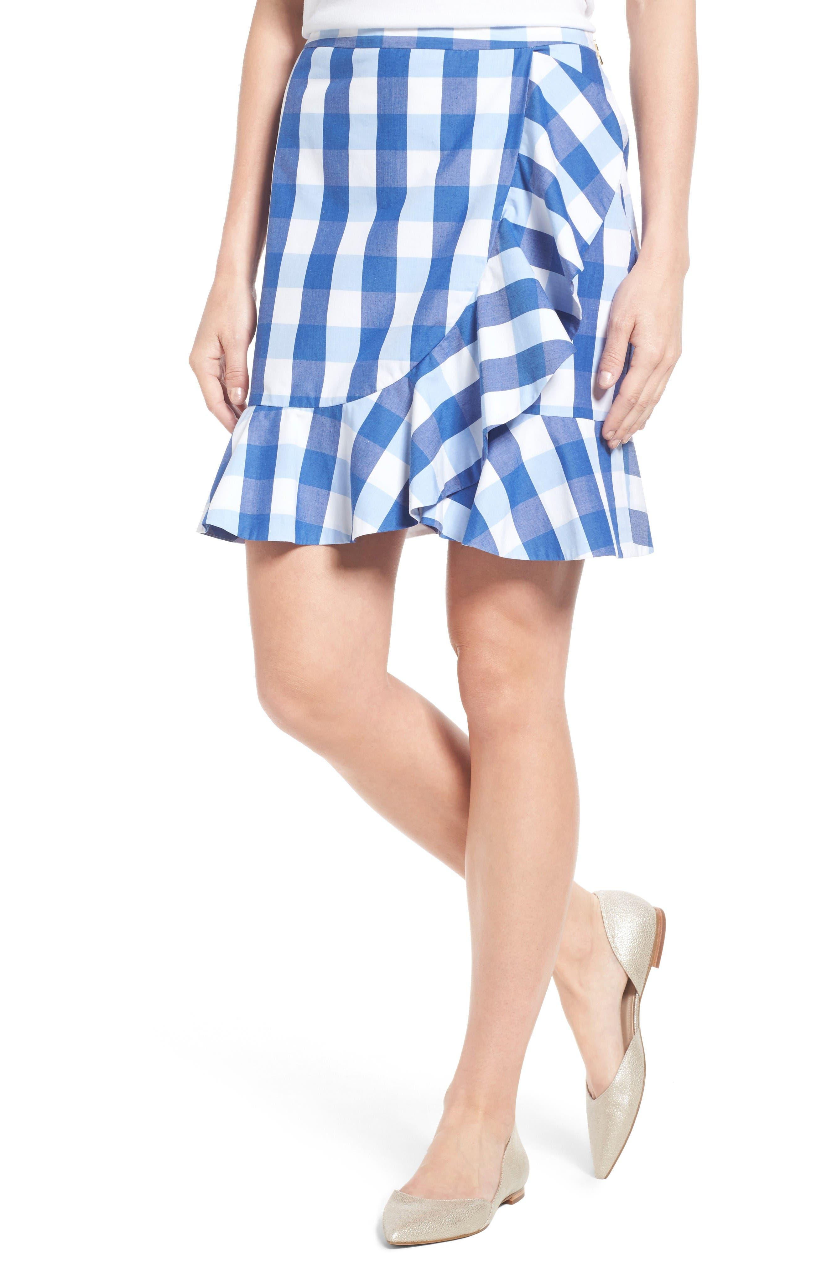 Alternate Image 1 Selected - Draper James Check Miniskirt
