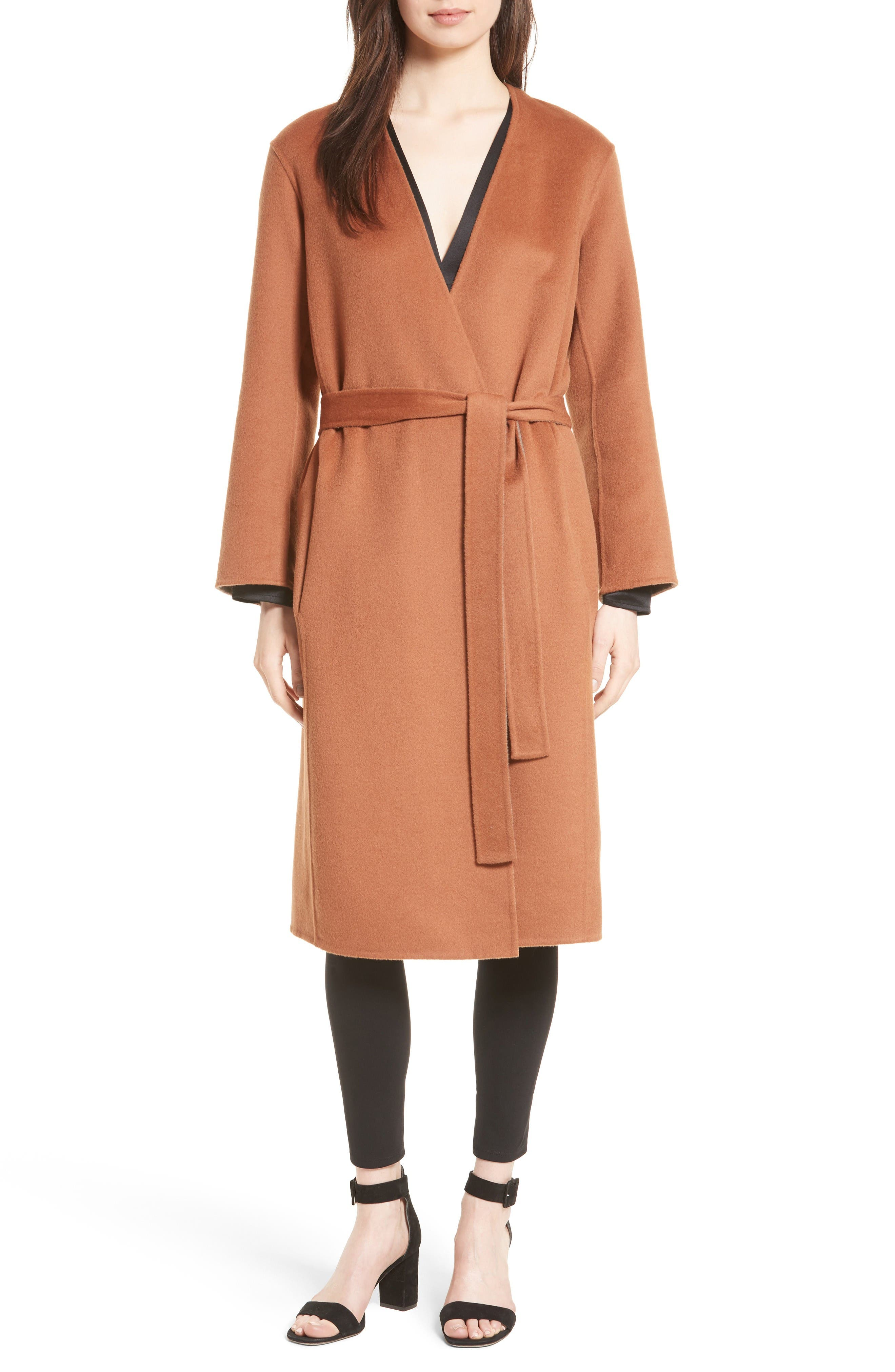 Alternate Image 2  - Vince Reversible Wool & Cashmere Belted Coat