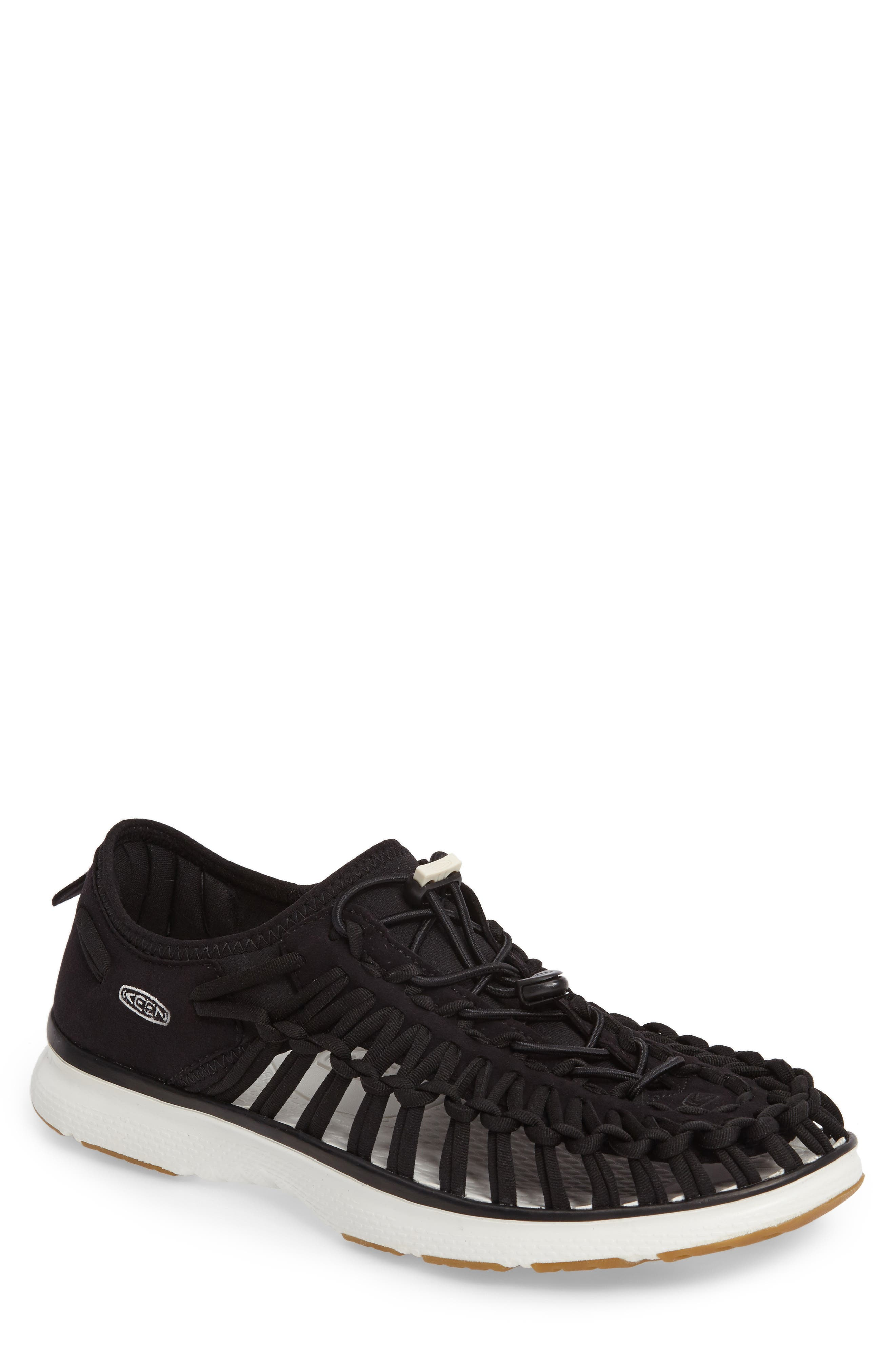 Uneek O2 Water Sneaker,                         Main,                         color, Black/ Harvest Gold Fabric